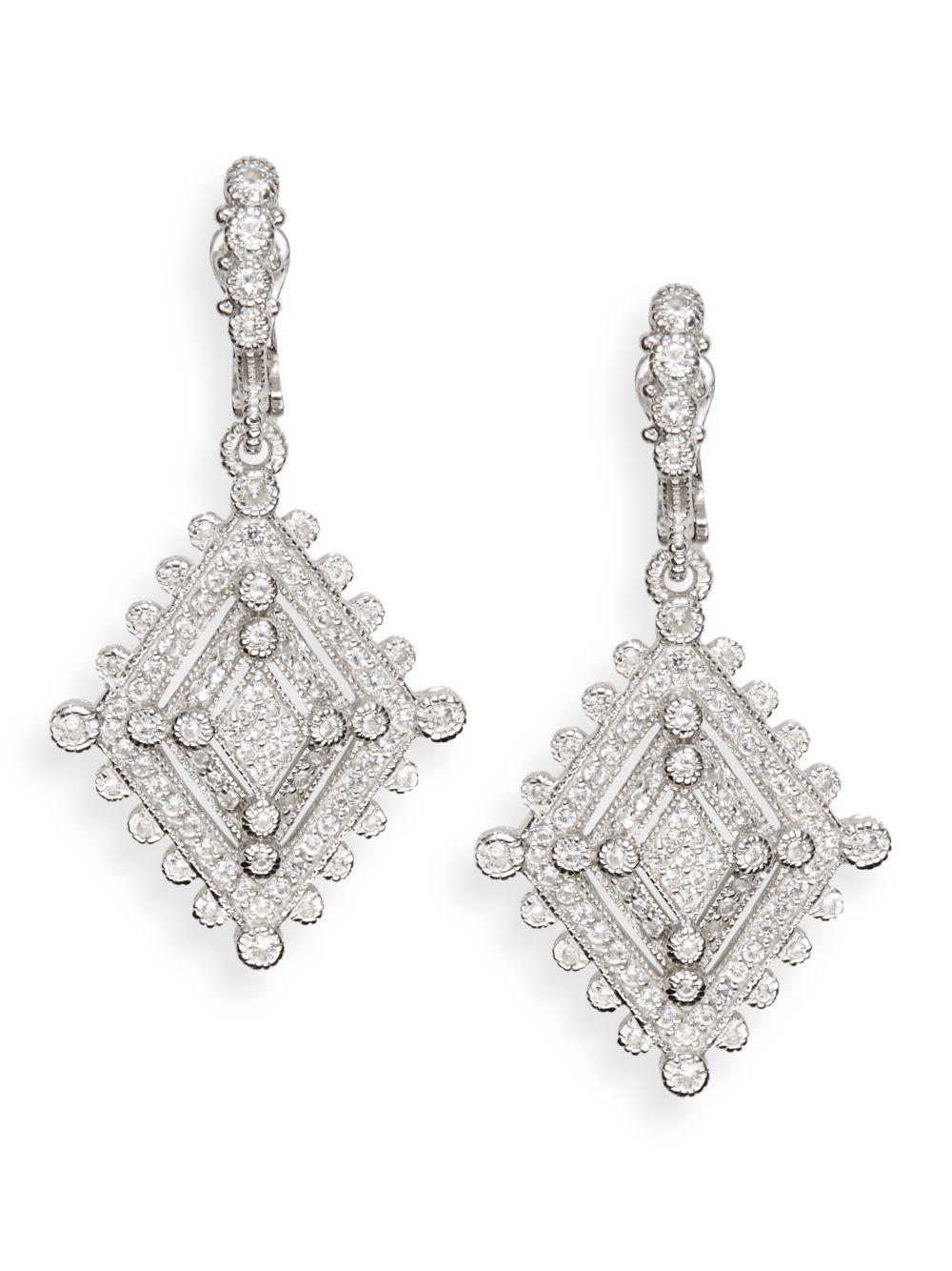 Lyst Judith Ripka White Sapphire Amp Sterling Silver Deco