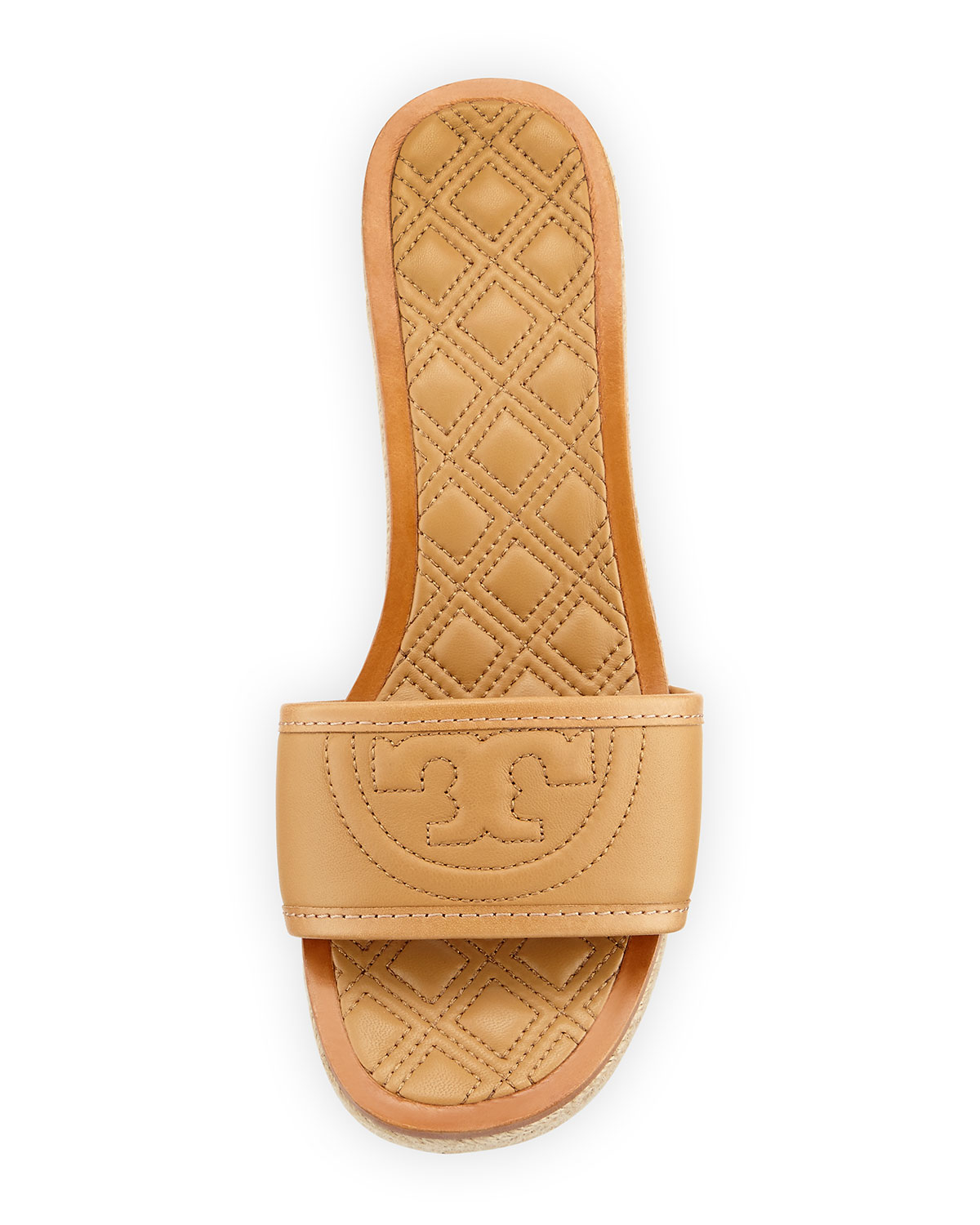 98ac353d7daf4c Lyst - Tory Burch Fleming Quilted Sandals in Natural