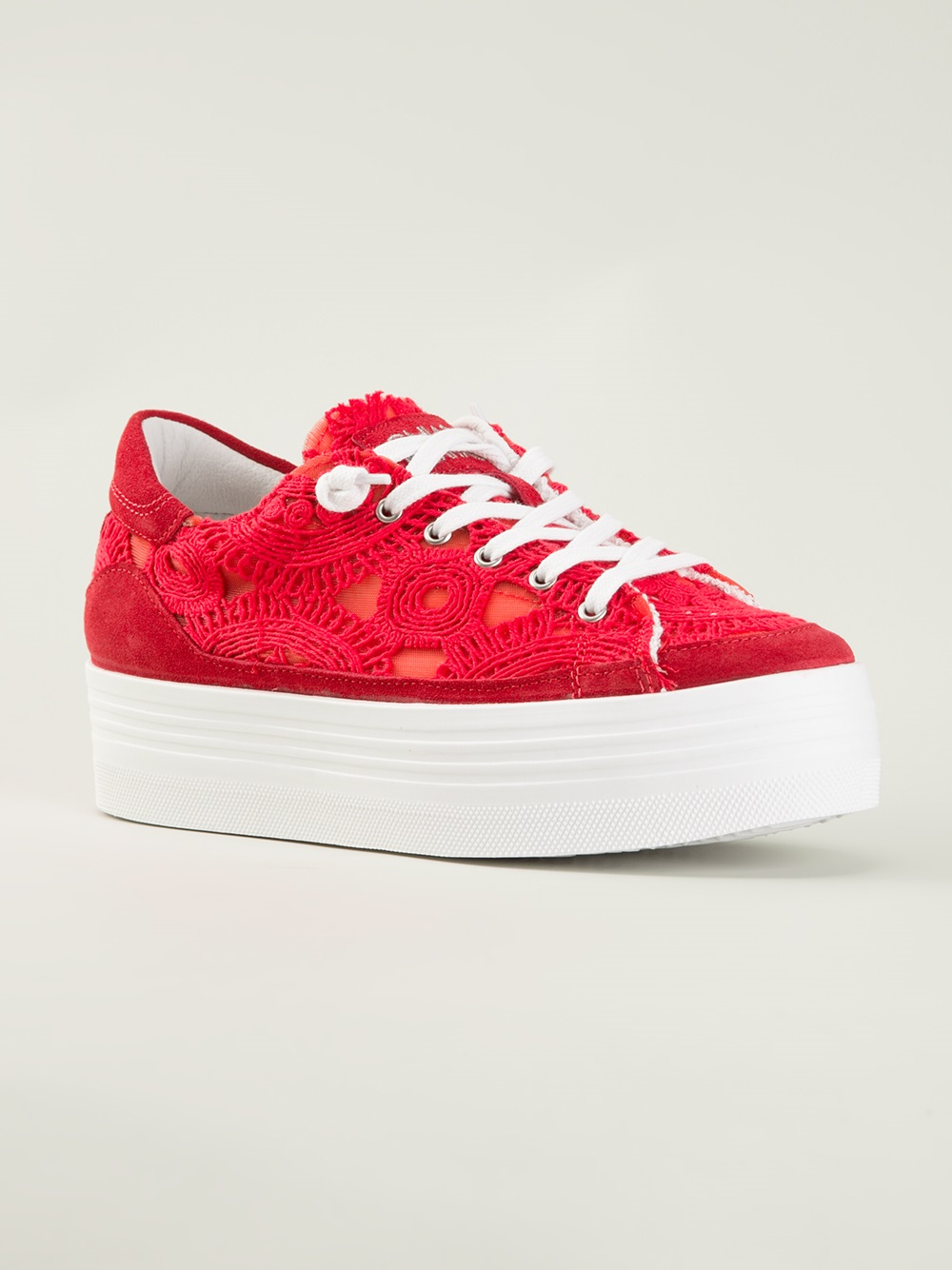e1449a186e6 Lyst - Chiara Ferragni Platform Sneakers in Red