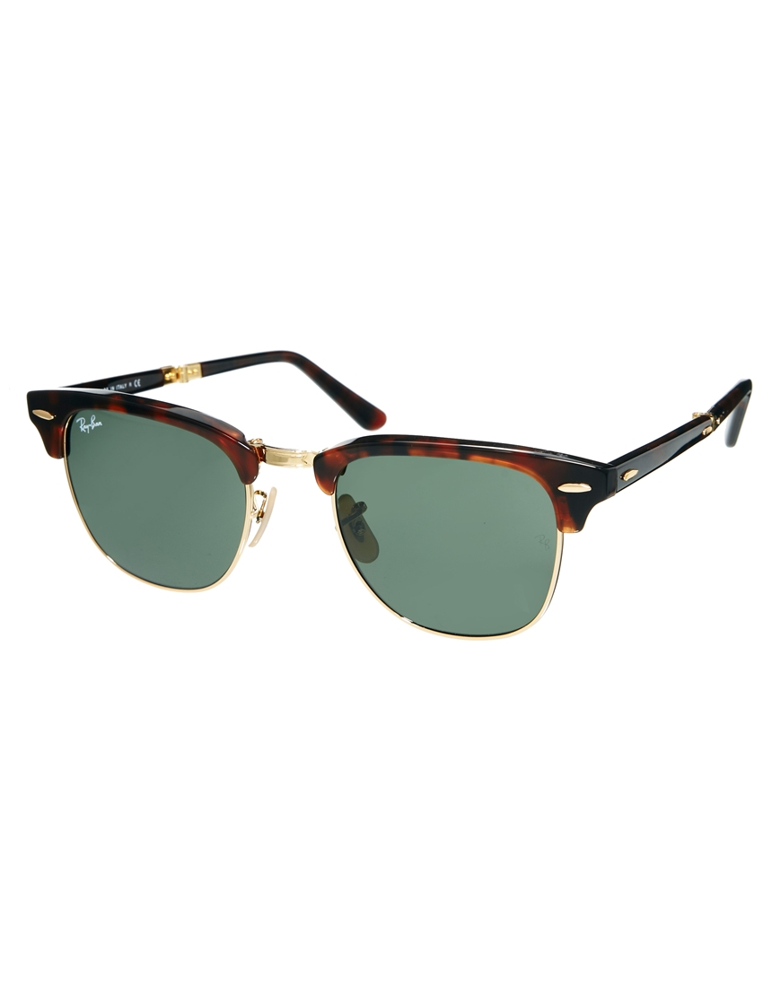 ray ban clubmaster sunglasses in green for men. Black Bedroom Furniture Sets. Home Design Ideas