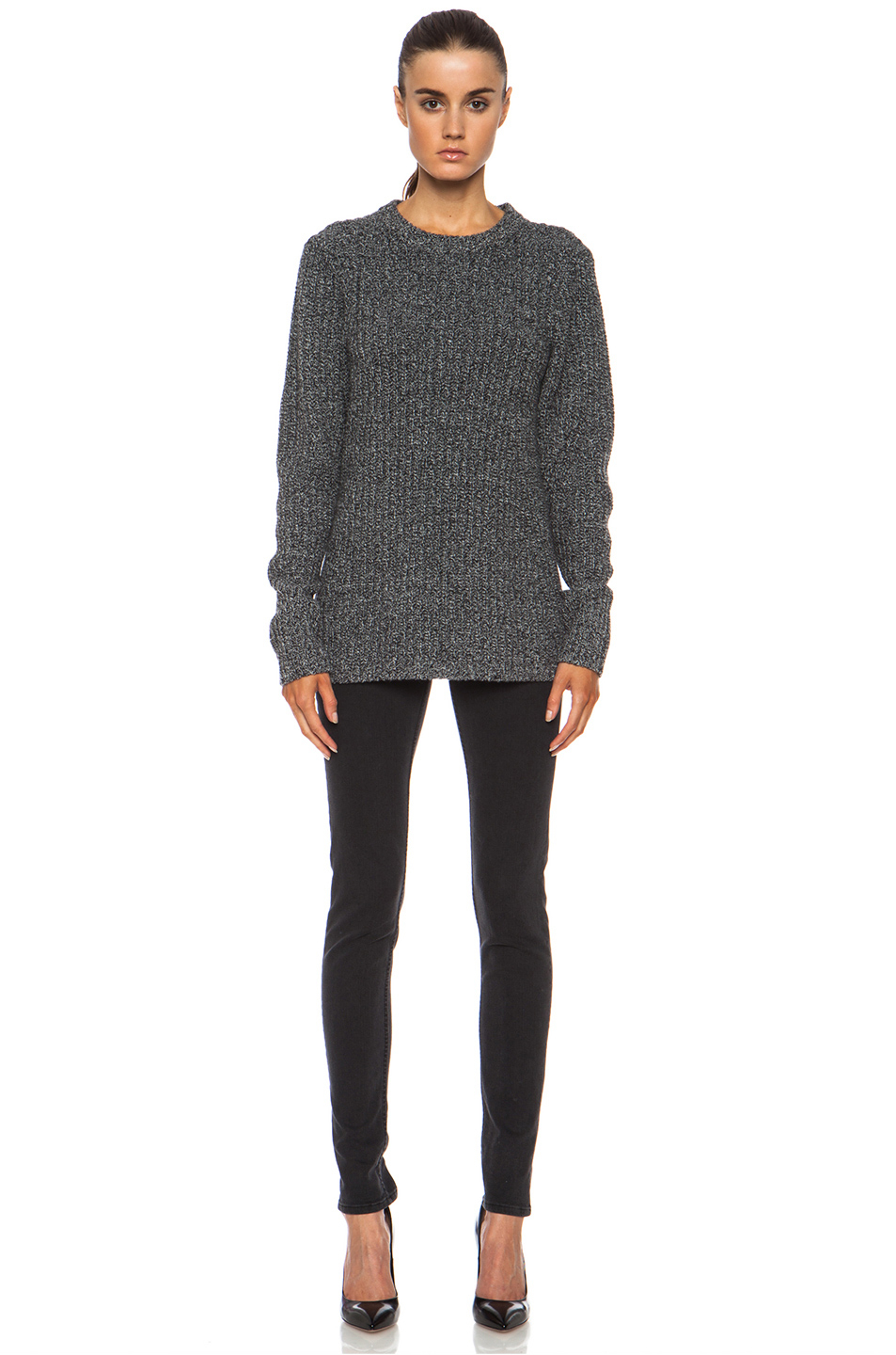 acne studios dixie wool sweater in black lyst. Black Bedroom Furniture Sets. Home Design Ideas