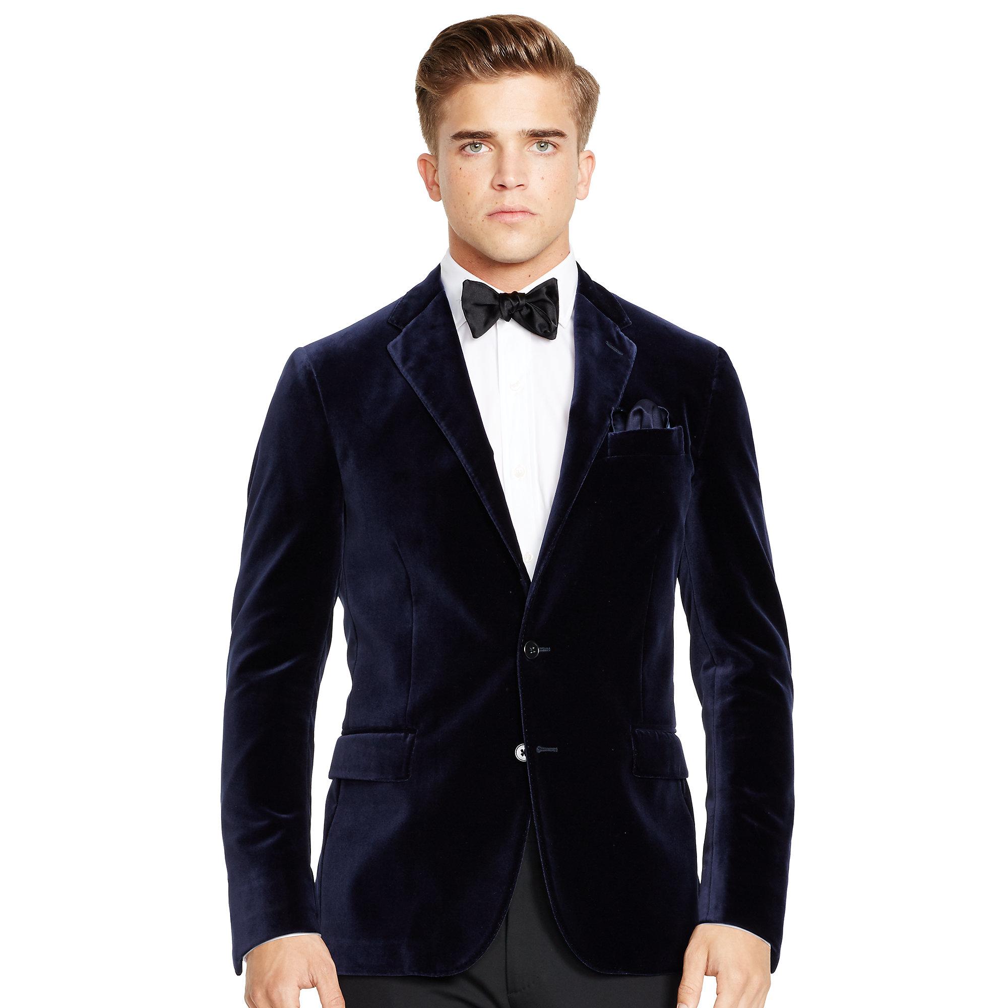 4d32182aa Lyst - Polo Ralph Lauren Polo Velvet Sport Coat in Black for Men