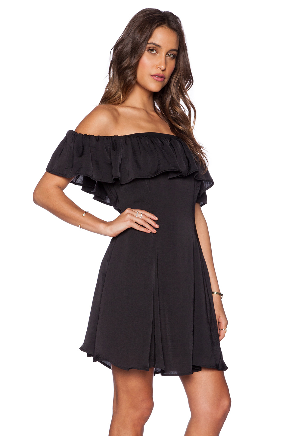 Capulet Spanish Shoulderless Mini Dress In Black Lyst