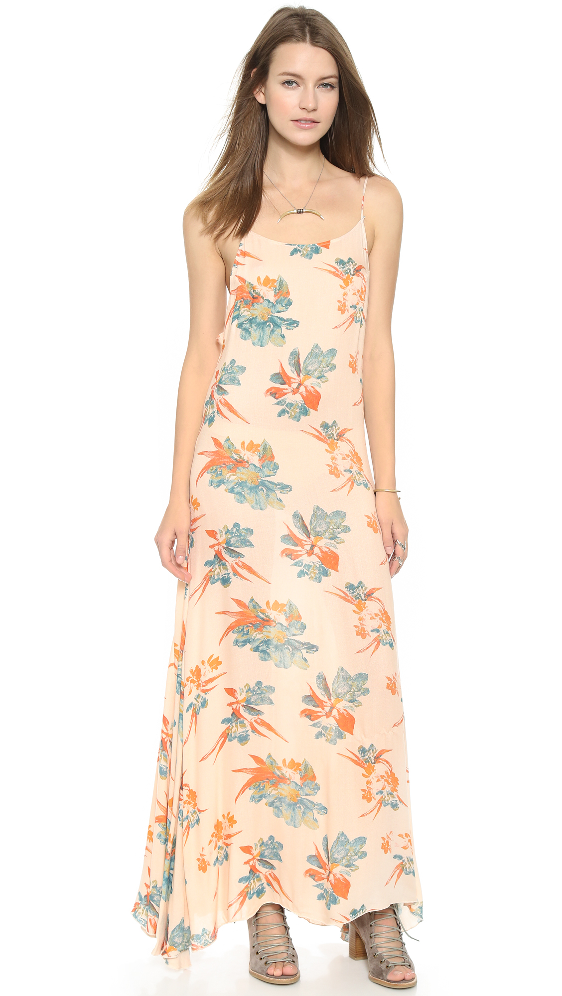 Free People Printed Maxi Dress Raven Combo In Pink Lyst