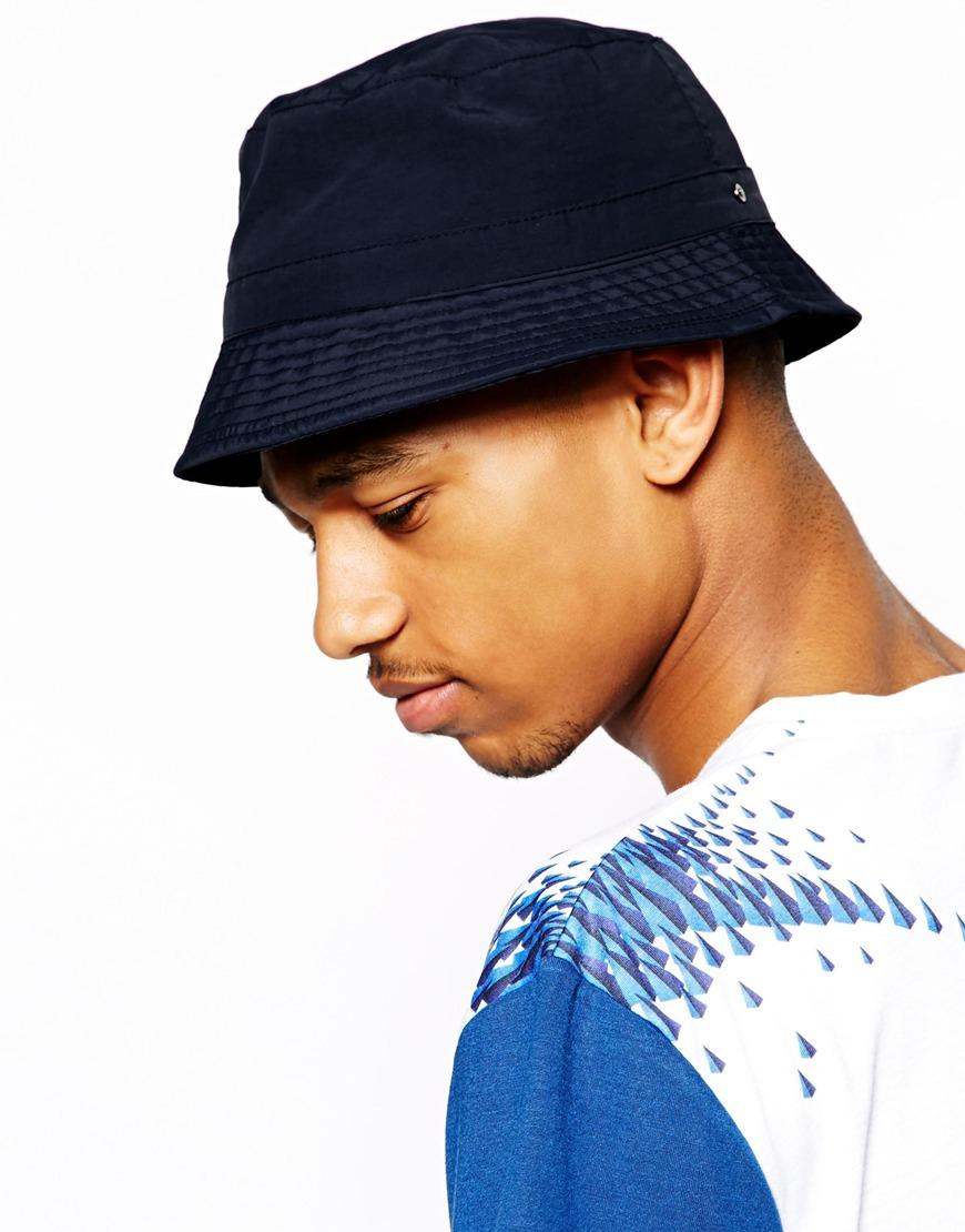 Lyst - ASOS Bucket Hat in Blue for Men 40bcbfdf3