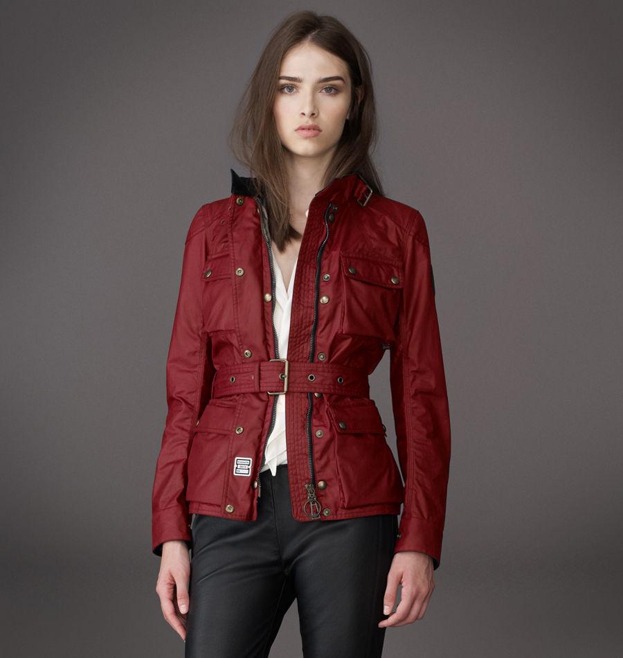 belstaff the roadmaster jacket in red racing red lyst. Black Bedroom Furniture Sets. Home Design Ideas