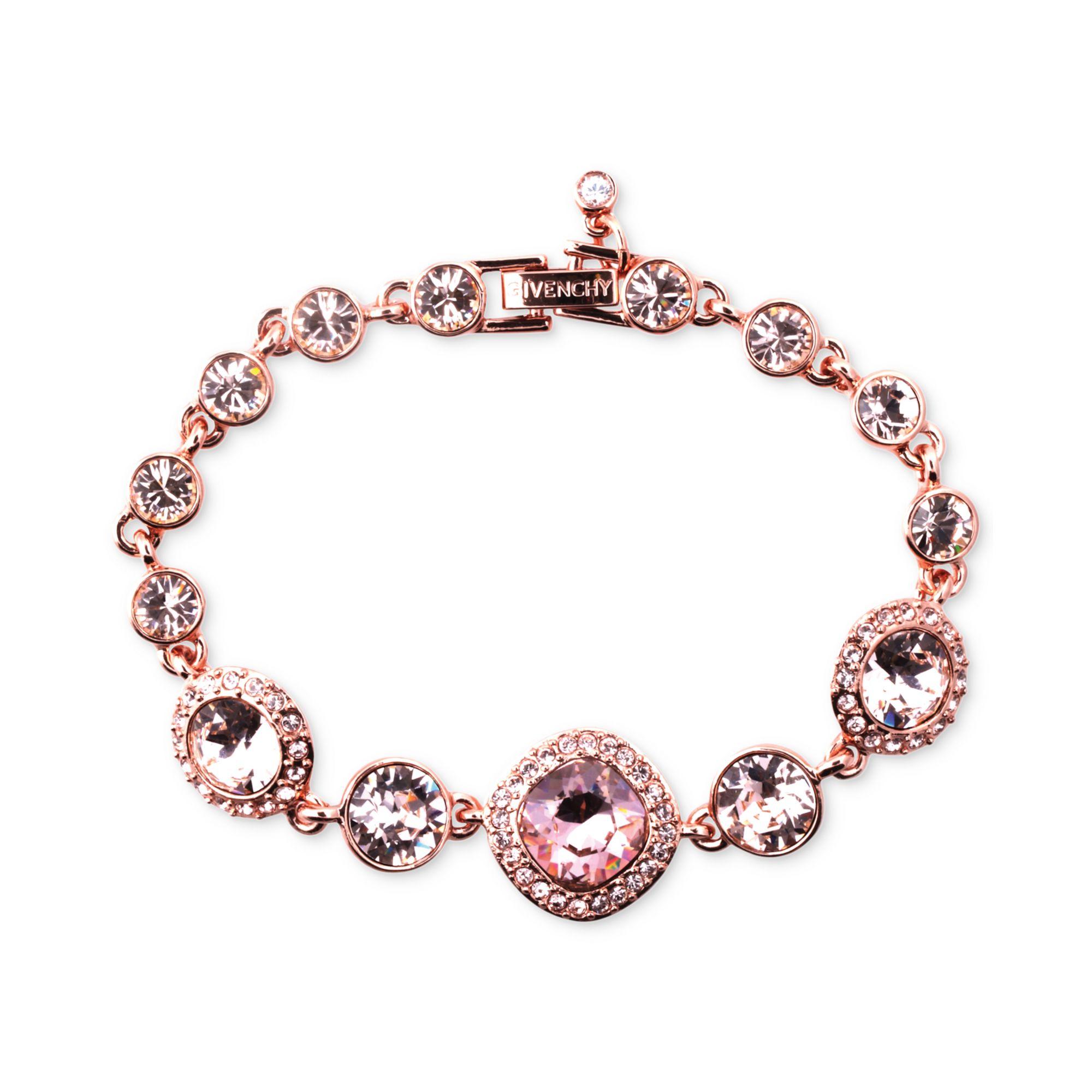 givenchy rose gold tone swarovski vintage stone bracelet
