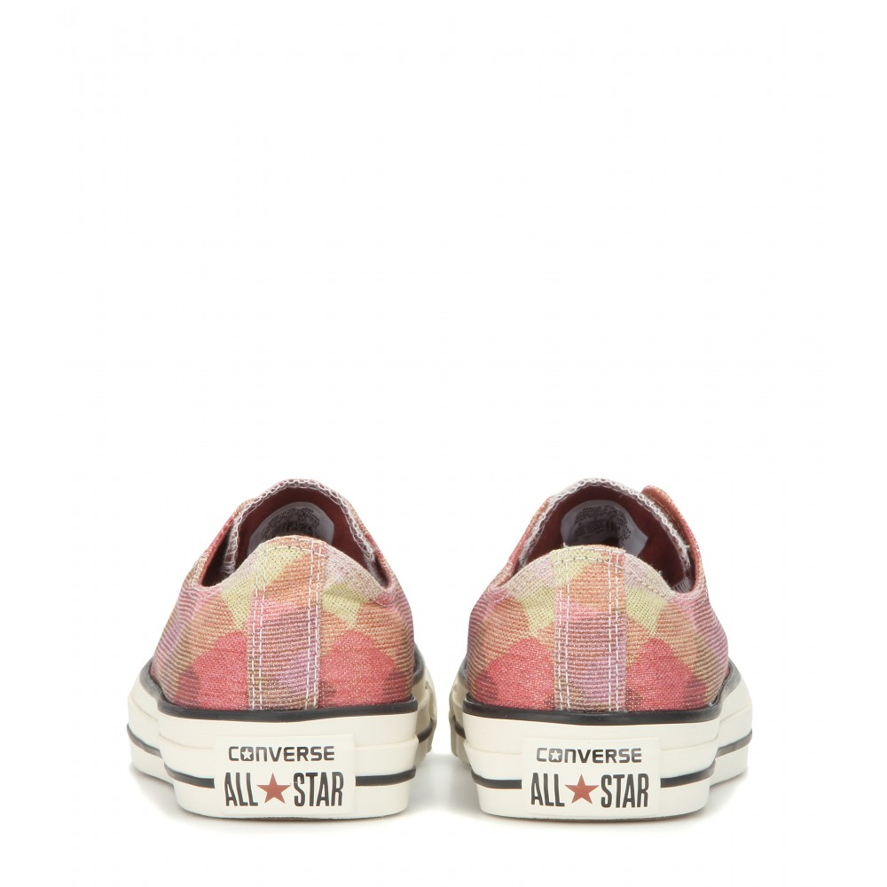 Converse Chuck Taylor All Star Low Printed Sneakers in Pink | Lyst