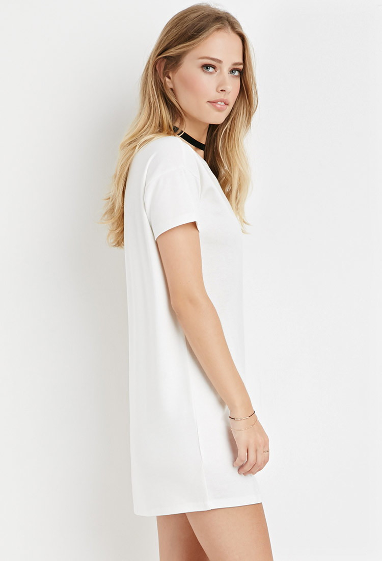 cdc06bda200c Lyst - Forever 21 T-shirt Dress in Natural