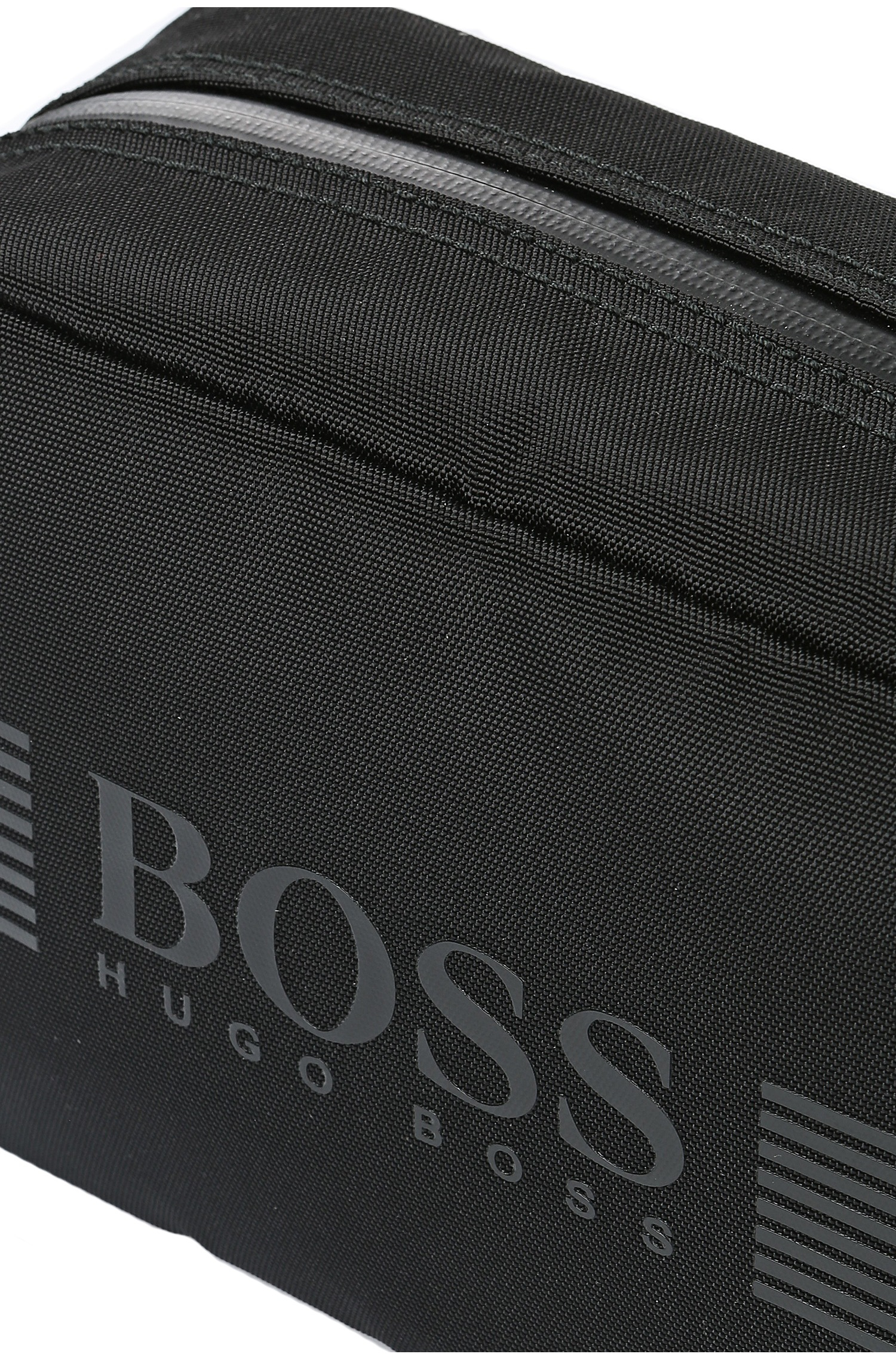 3e06d23bc6be BOSS Green Wash Bag In Nylon With Trim   pixel washbag  in Black for ...