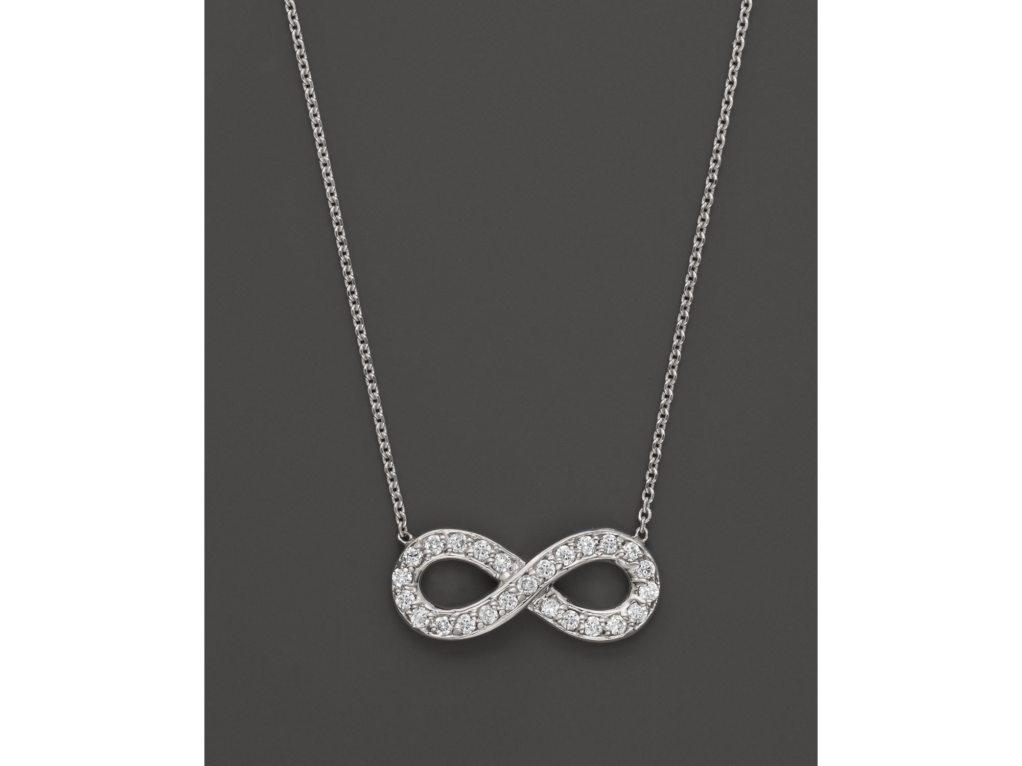 Kc designs Diamond Infinity Pendant In 14k White Gold 14 Ct