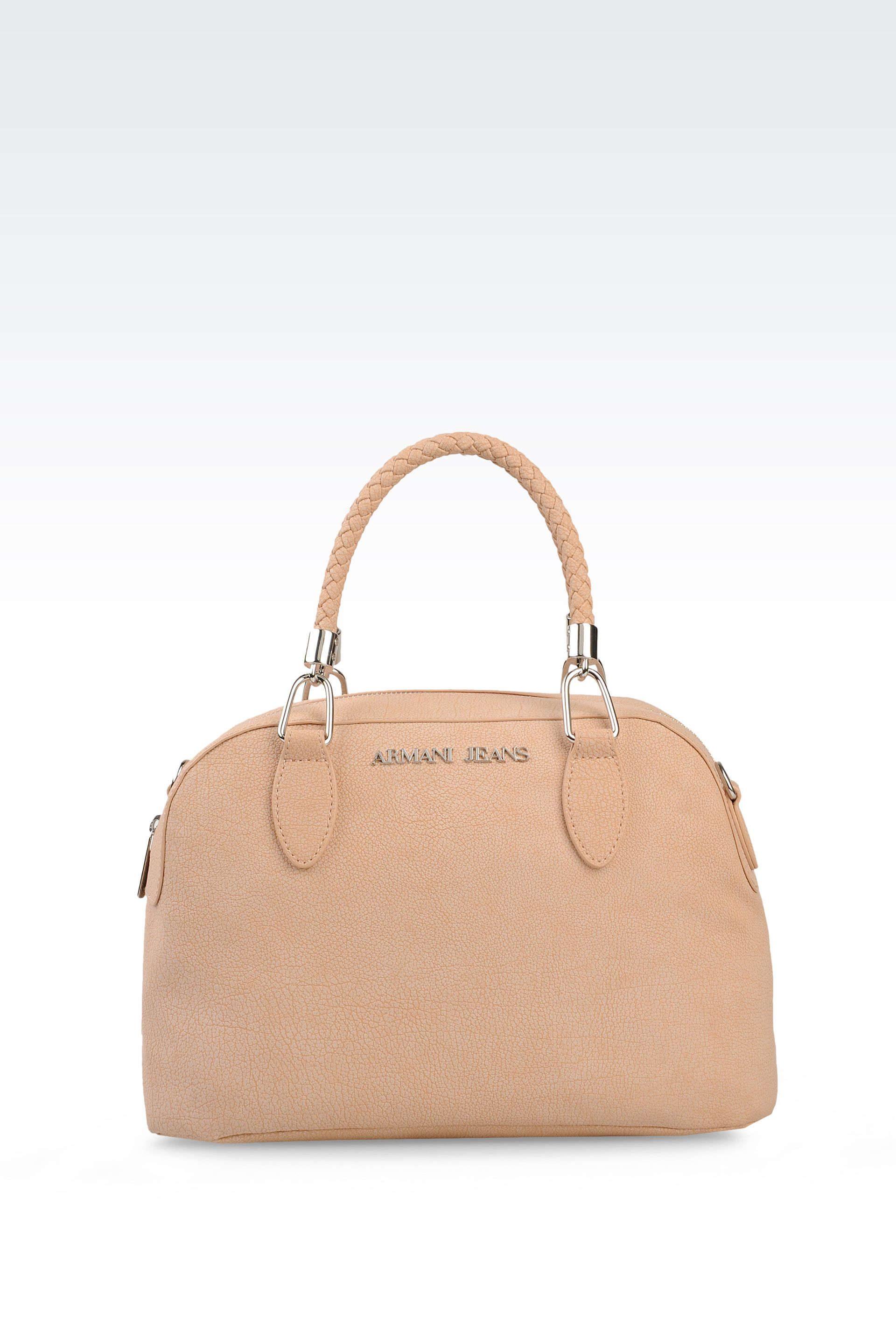 0106c9bb74 Lyst - Armani Jeans Bauletto Bag in Printed Faux Leather in Natural
