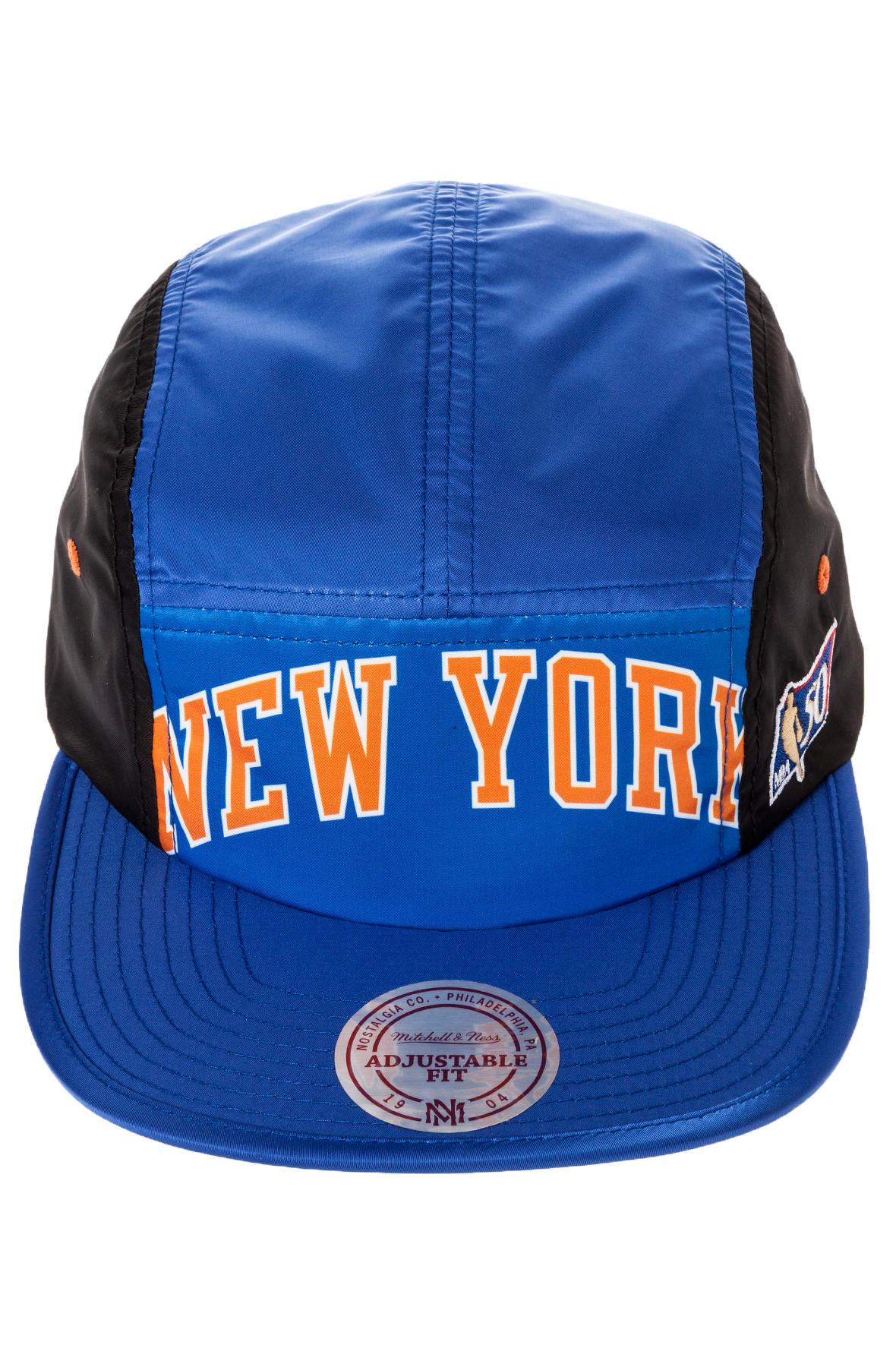 32063541d31 ... germany lyst mitchell ness the new york knicks wordmark 5panel cap in  8602f b8444