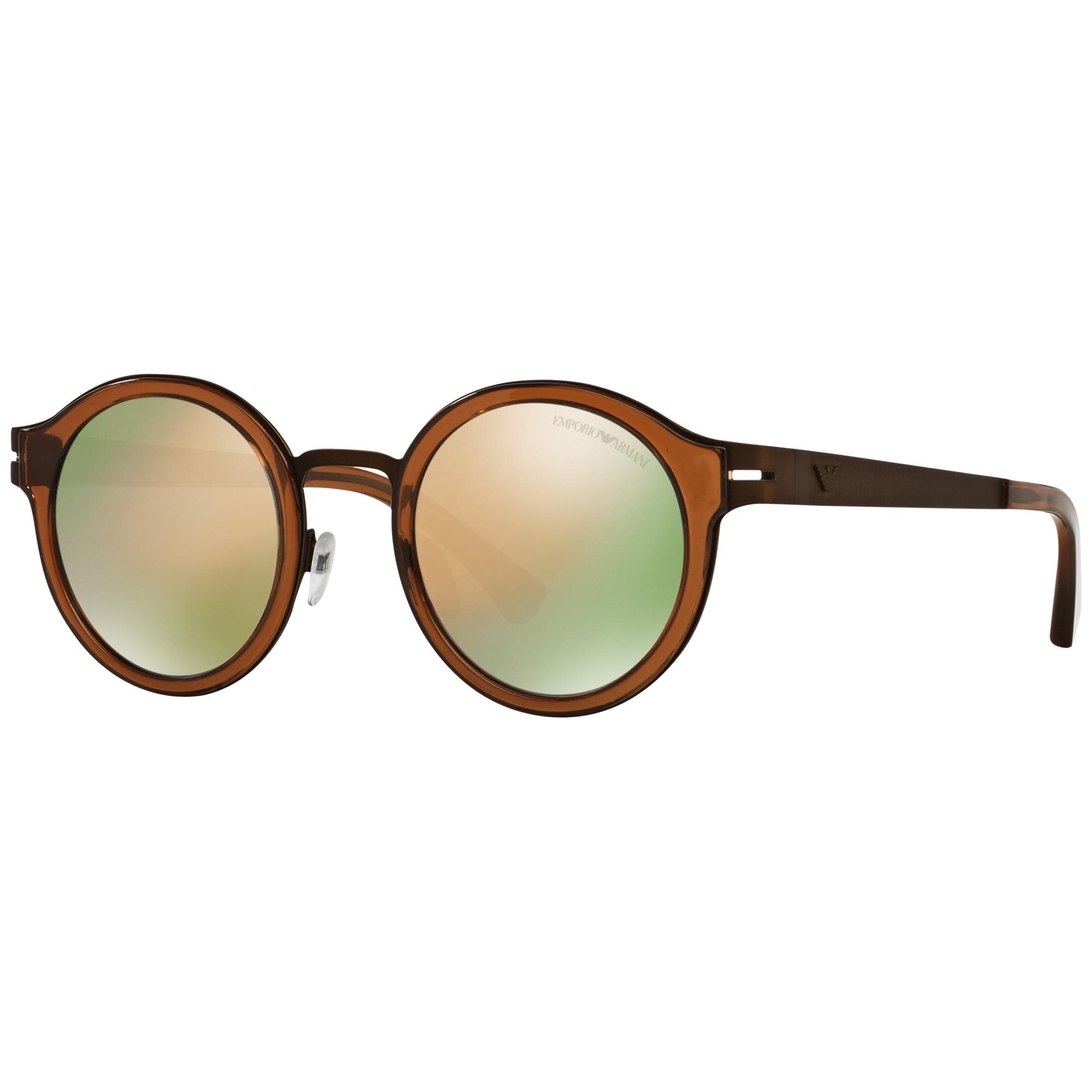 f1c84af07997 Emporio Armani Ea2029 Round Sunglasses in Brown - Lyst