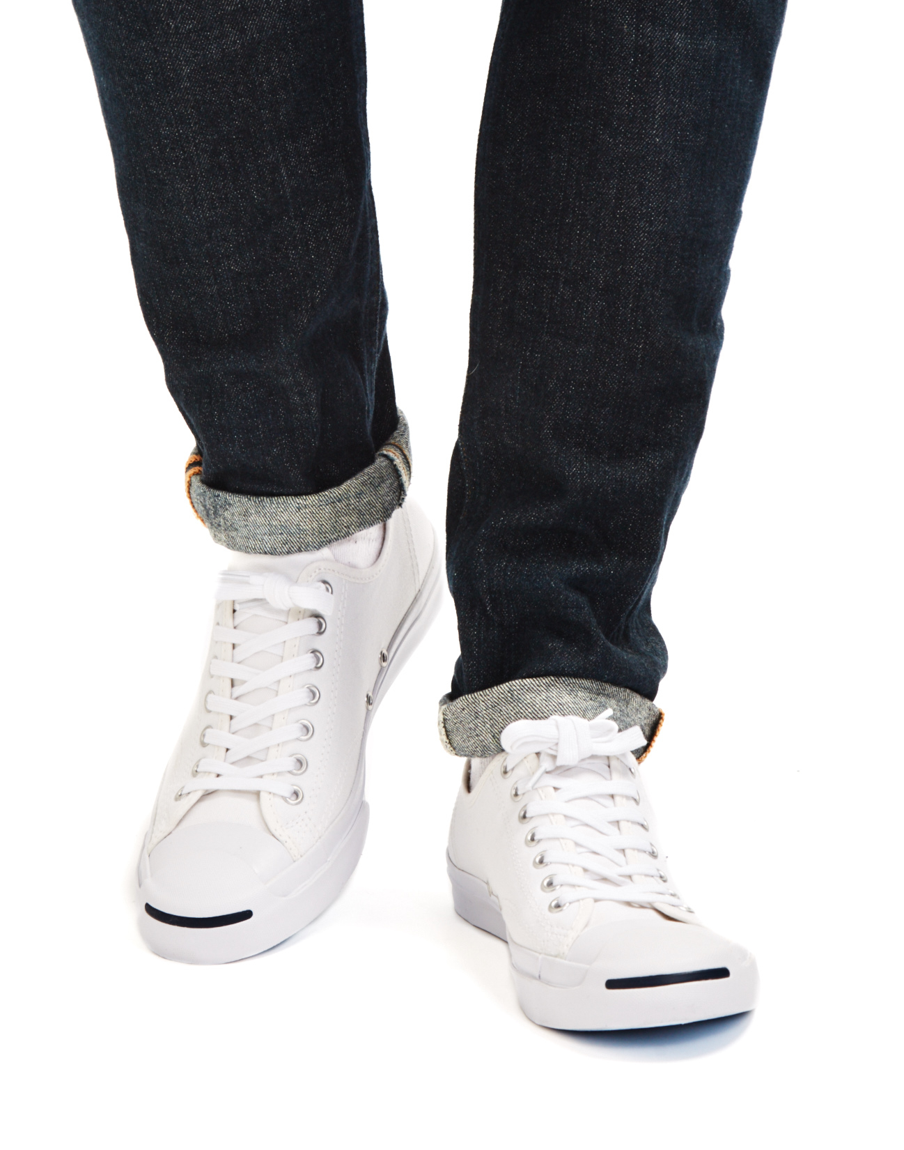 6d2e9f1e2b2 Lyst - Converse Jack Purcell Jack Leather Trainer White navy in ...