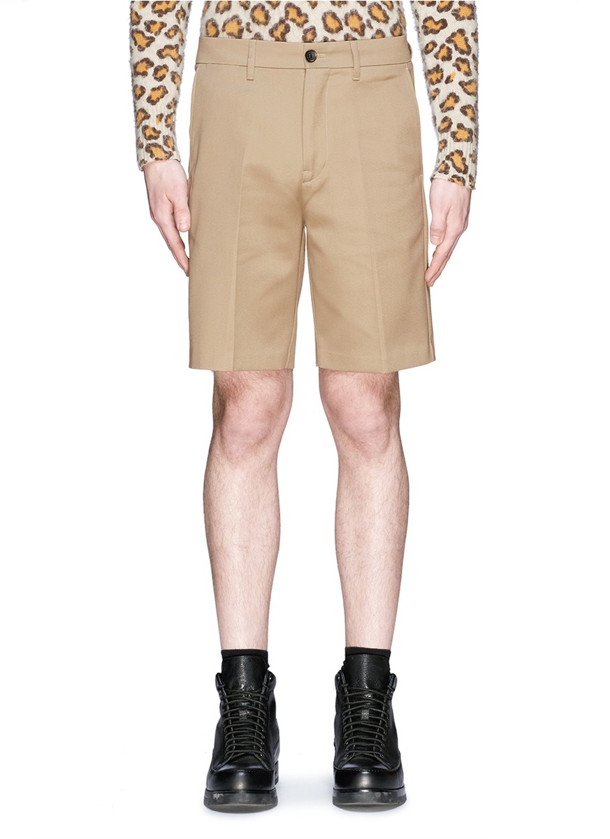 Acne studios 'adrian' Cotton Bermuda Shorts in Natural for ...