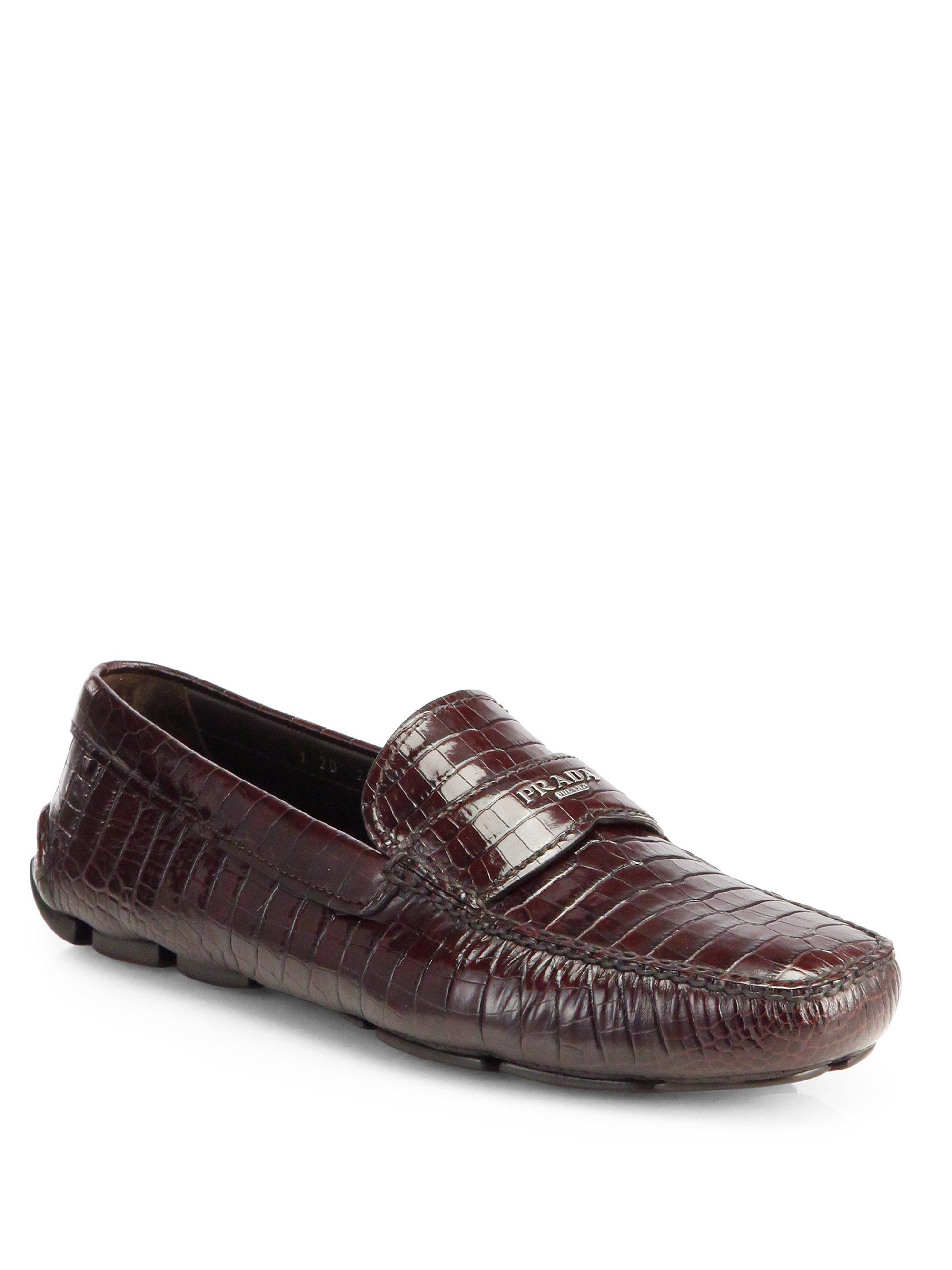 Prada Crocodile Shoes Mens
