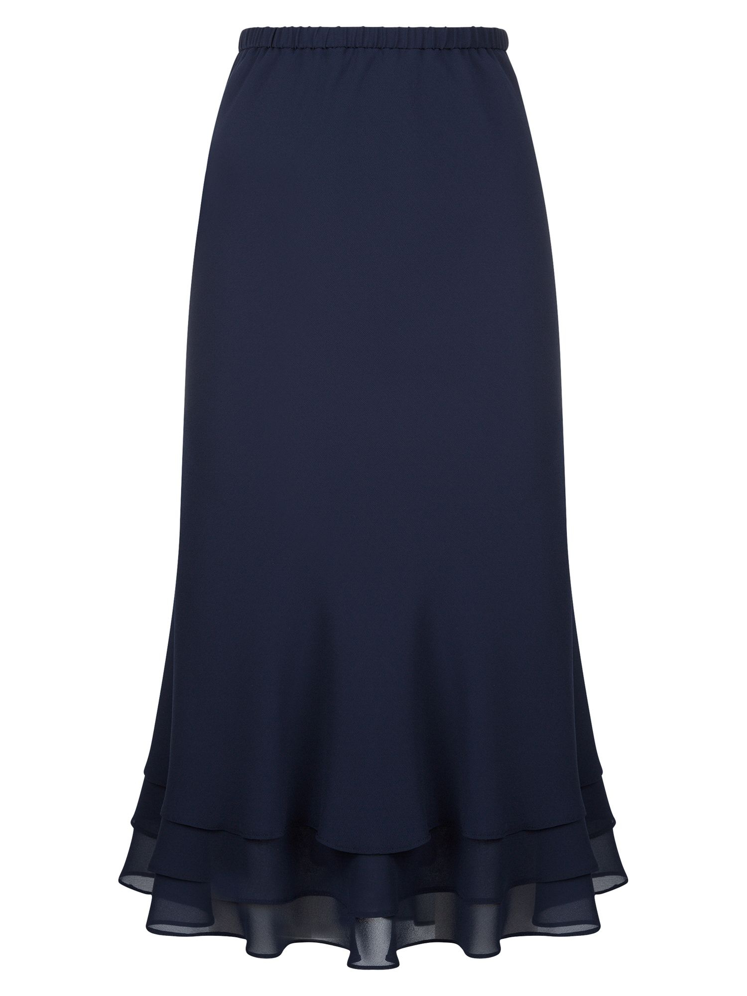 Jacques Vert Navy Layer Chiffon Skirt in Blue (Midnight ...