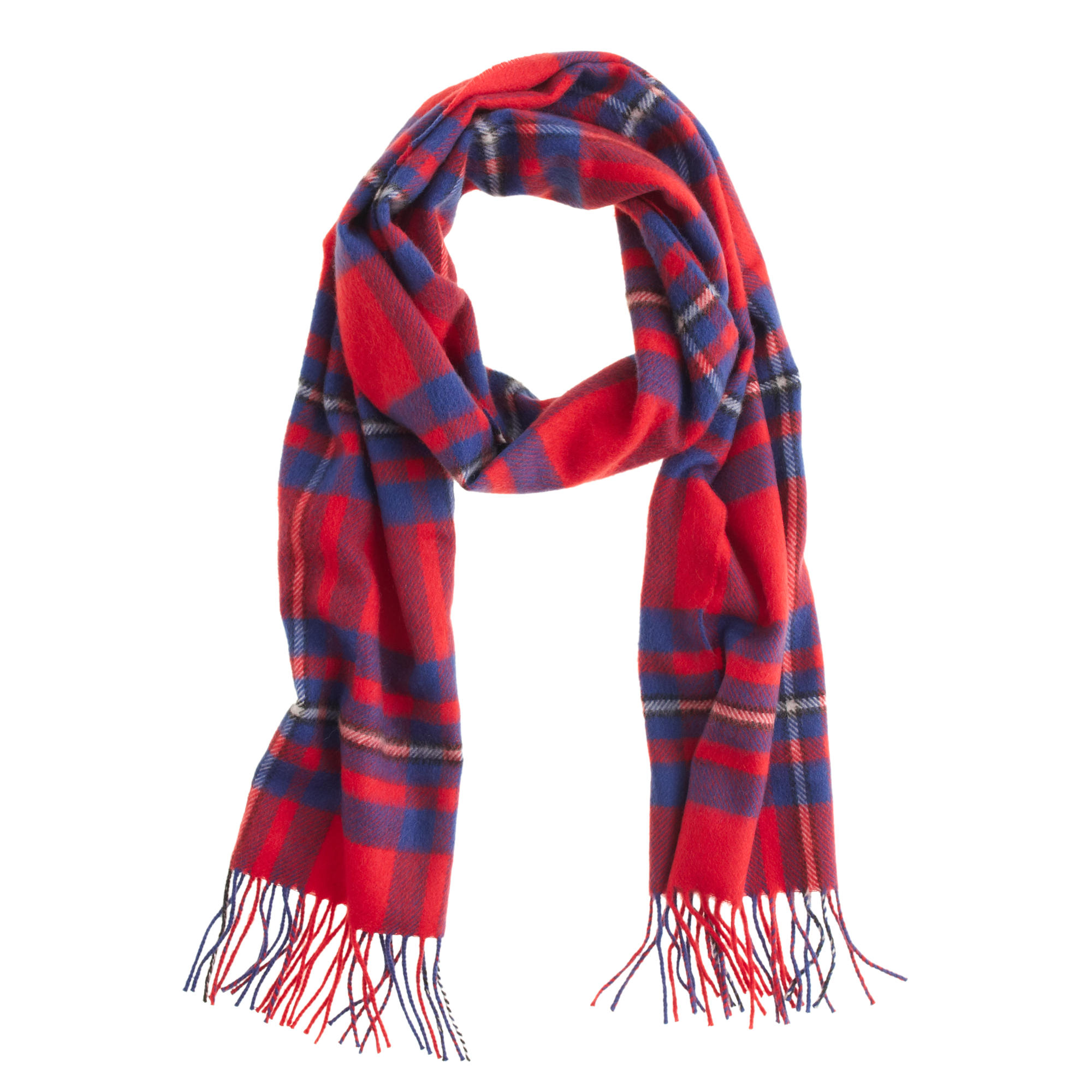 cashmere scarf in plaid in red for men lyst. Black Bedroom Furniture Sets. Home Design Ideas