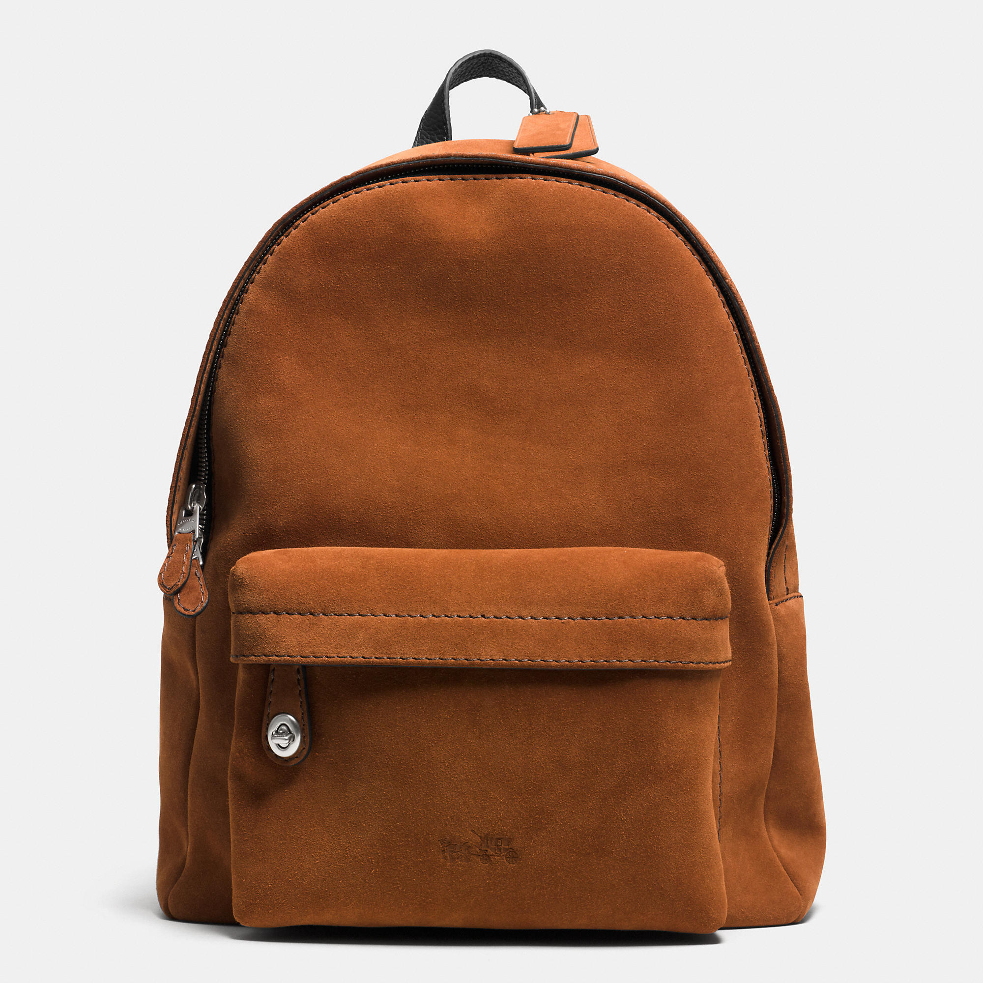 f557705f2479 Lyst - COACH Campus Backpack In Suede in Brown for Men