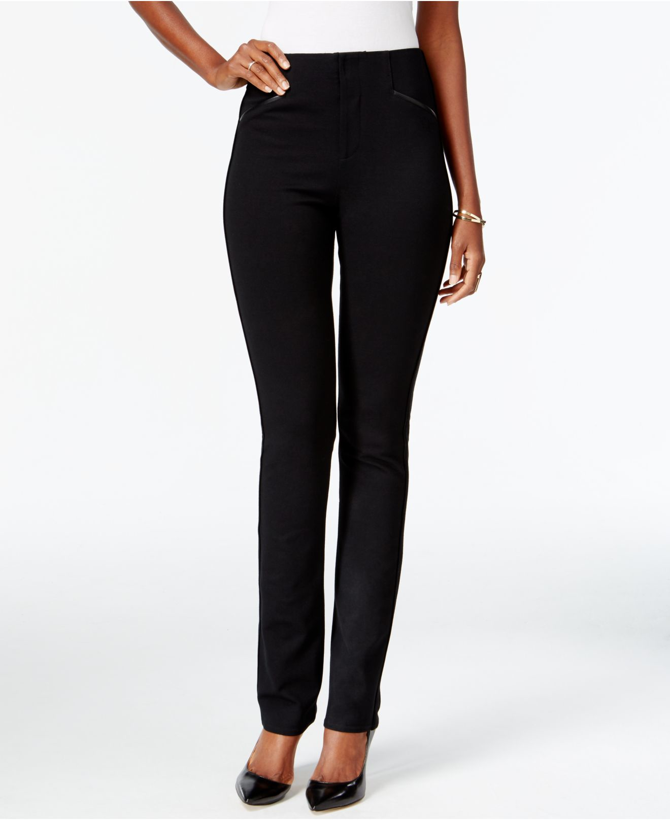 38e147eac8951 Lyst - INC International Concepts Curvy-fit Straight-leg Pants in Black