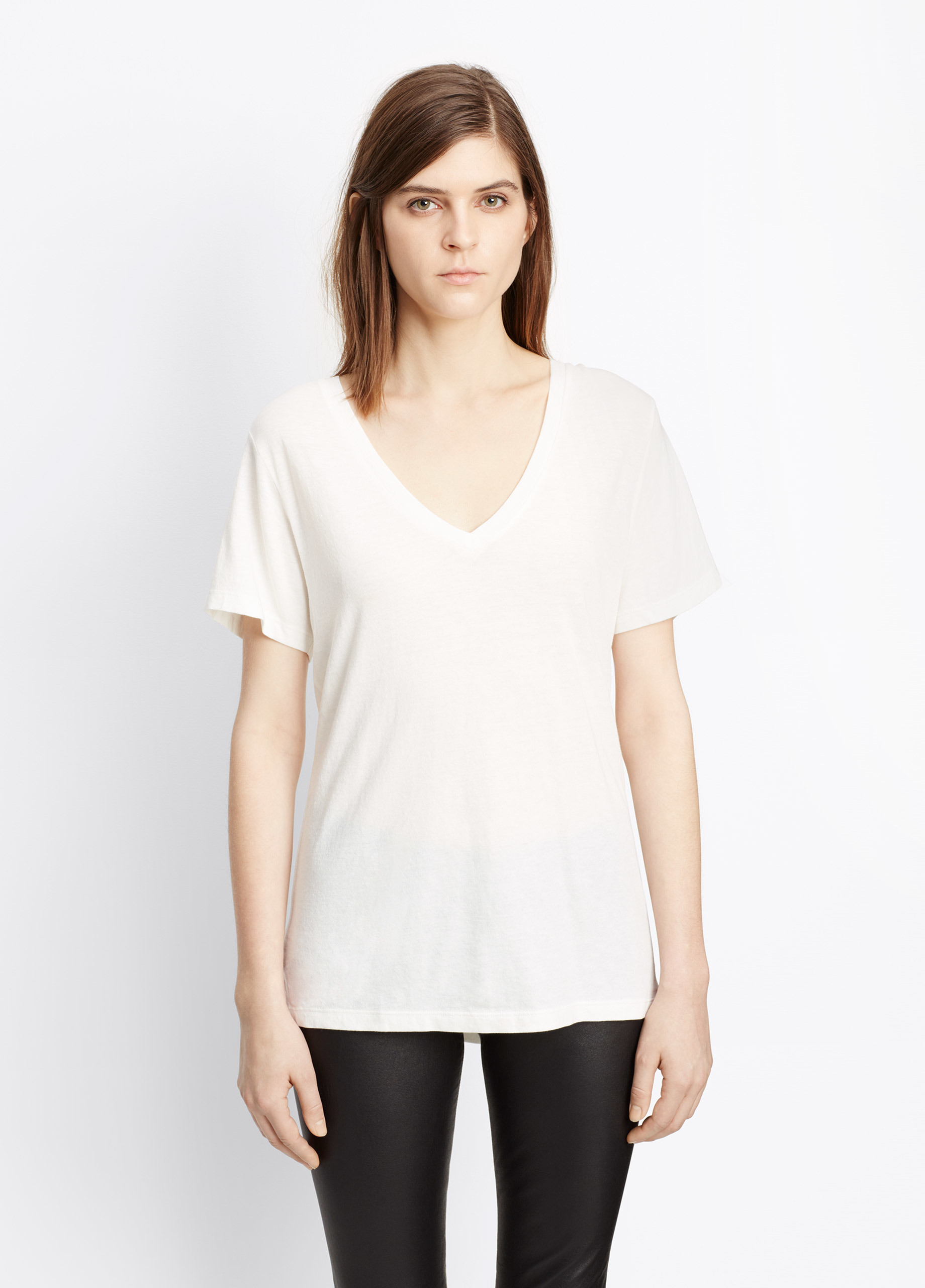 270bac599860c Womens Pima Cotton V Neck T Shirt