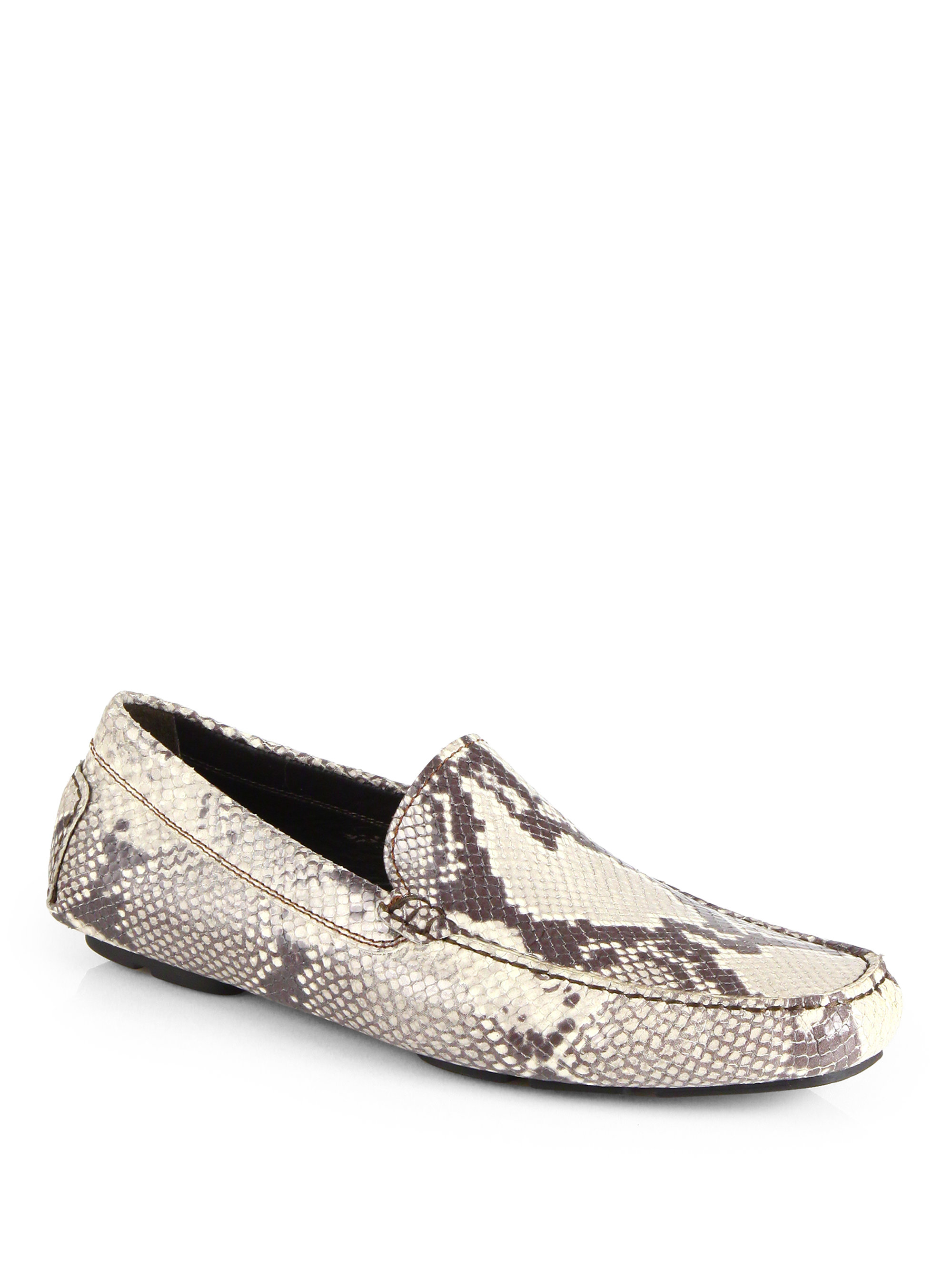 Lyst To Boot Snakeskin Embossed Leather Driving