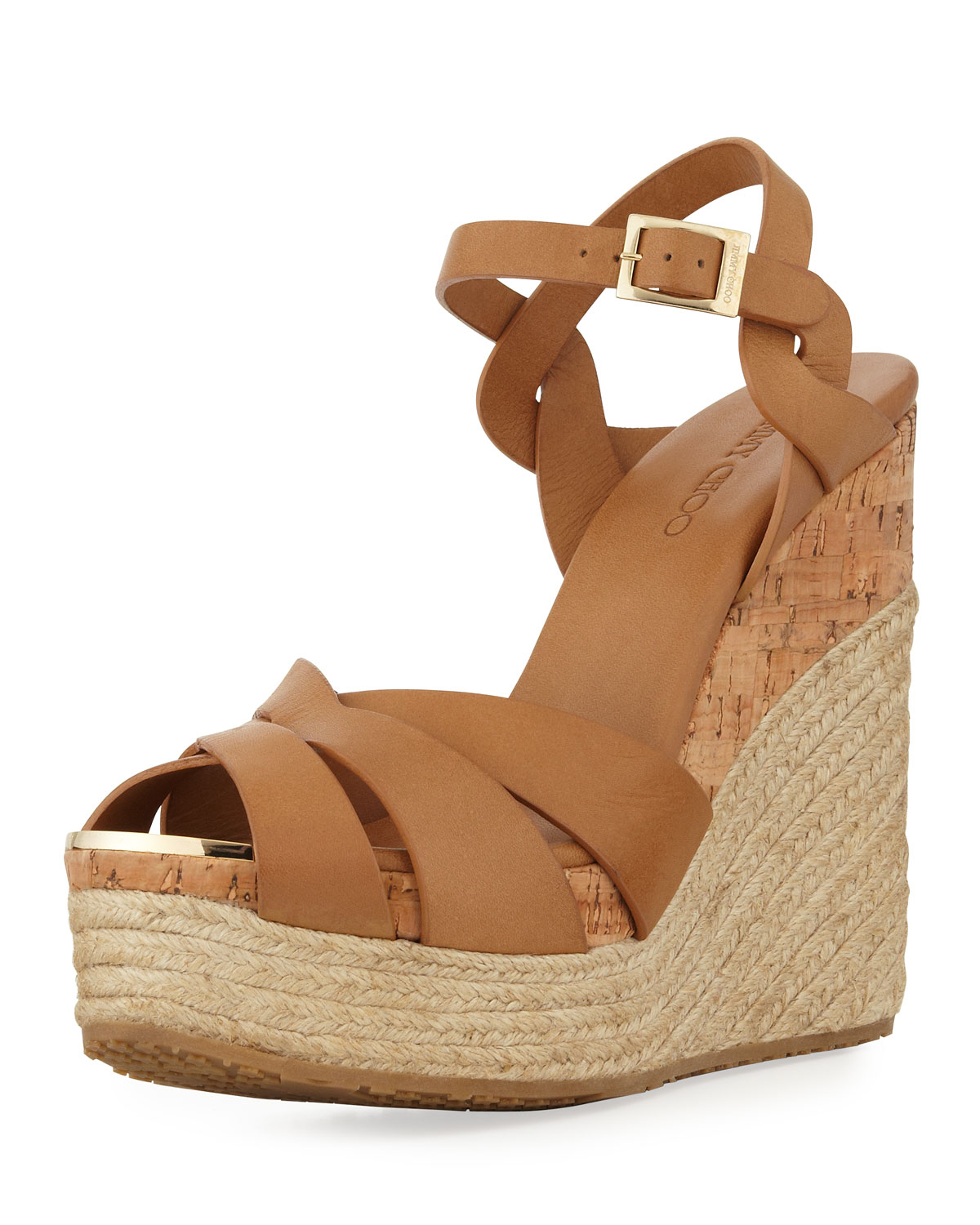 d194d1db2fb8 Lyst - Jimmy Choo Peddle Platform Wedge Sandal in Natural