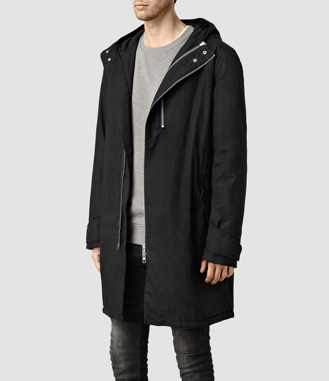 Allsaints Ren Parka in Black for Men | Lyst