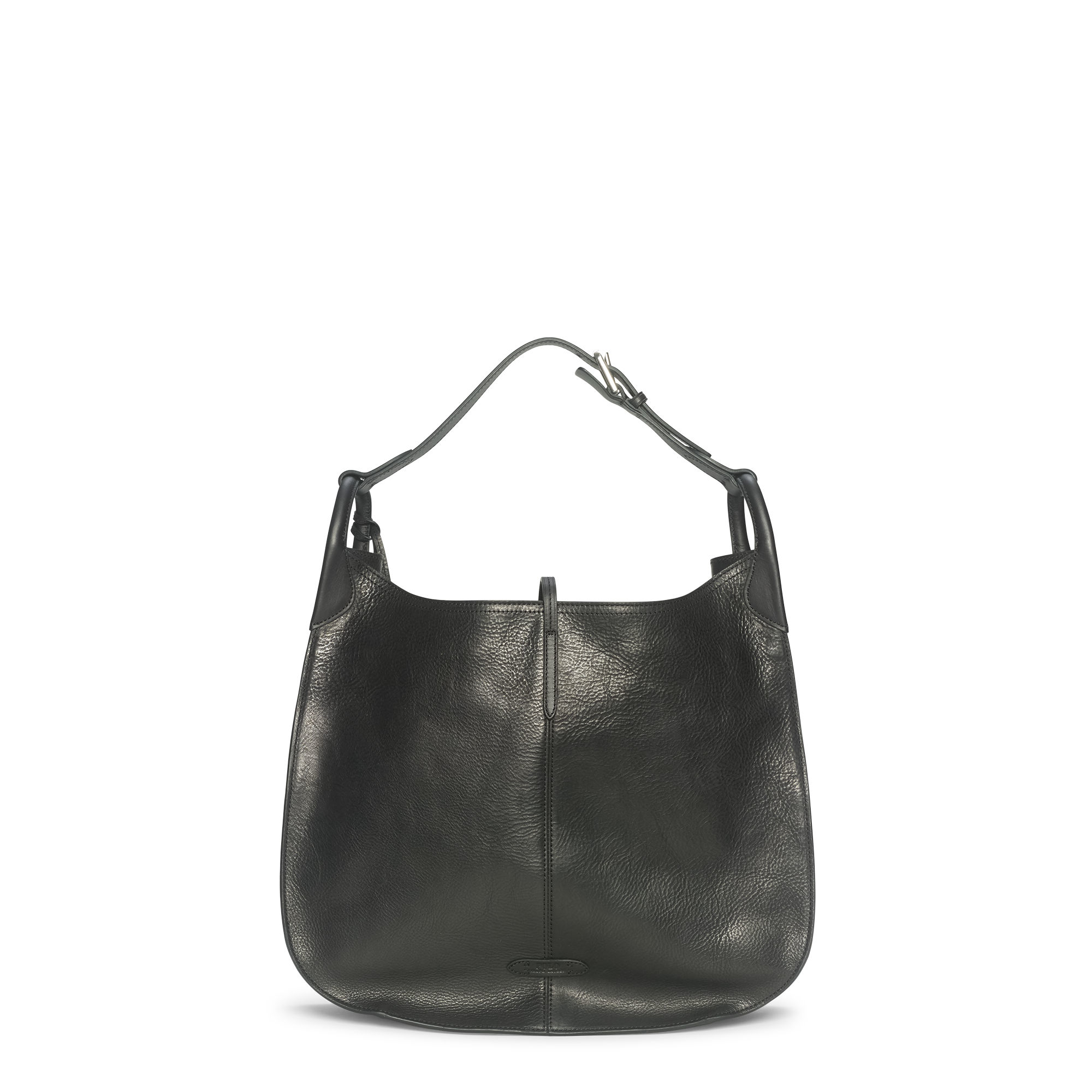 ... Polo Ralph Lauren Tumbled Leather Hobo Bag in Black - Lyst wholesale  dealer acf14 a857f . ... 0f105e2d8a9e