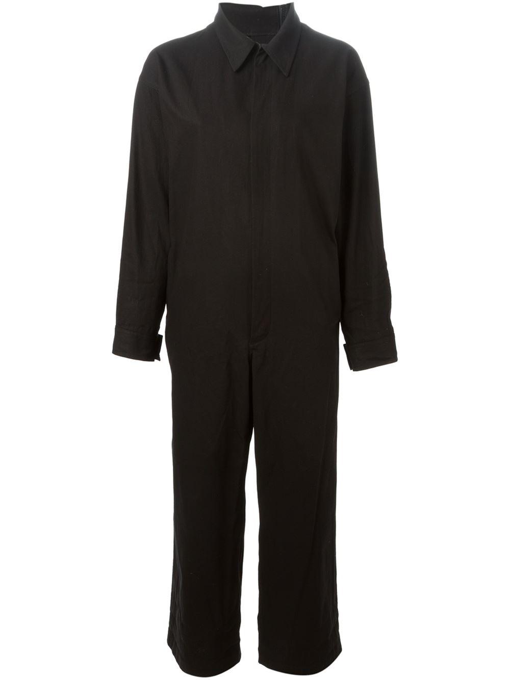 Lyst Yohji Yamamoto Front Back Zip Overalls In Black