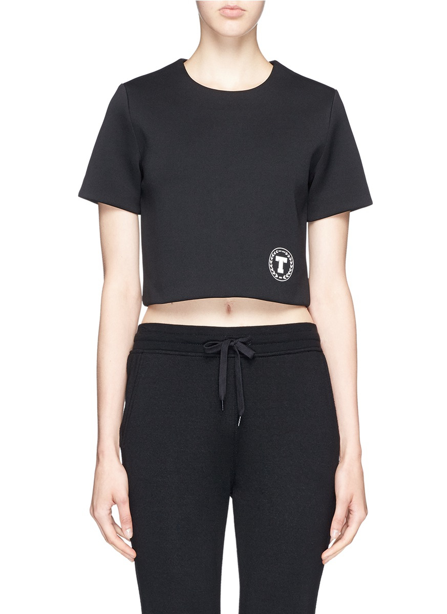 Lyst T By Alexander Wang T Logo Scuba Jersey T Shirt In