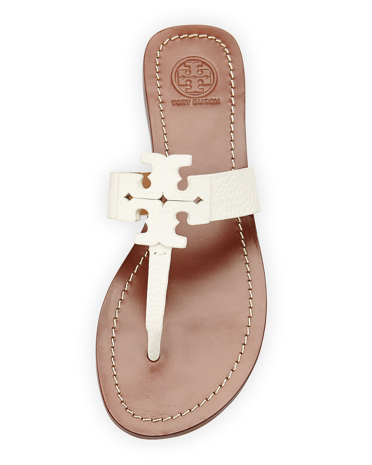 35cf922d6 Lyst - Tory Burch Moore Leather Thong Sandal in White