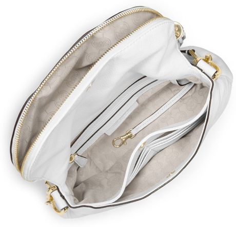 Norway Michael Kors Weston Totes - Bags Michael Kors Medium Weston Convertible Shoulder Bag Optic White