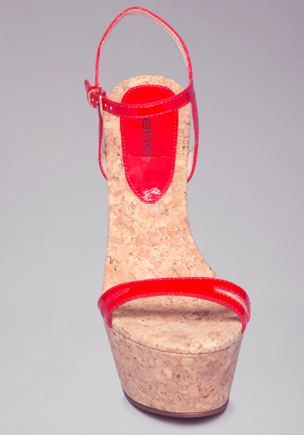 5dd4c9c66ce Lyst - Bebe Nilaya Strappy Cork Wedges in Red