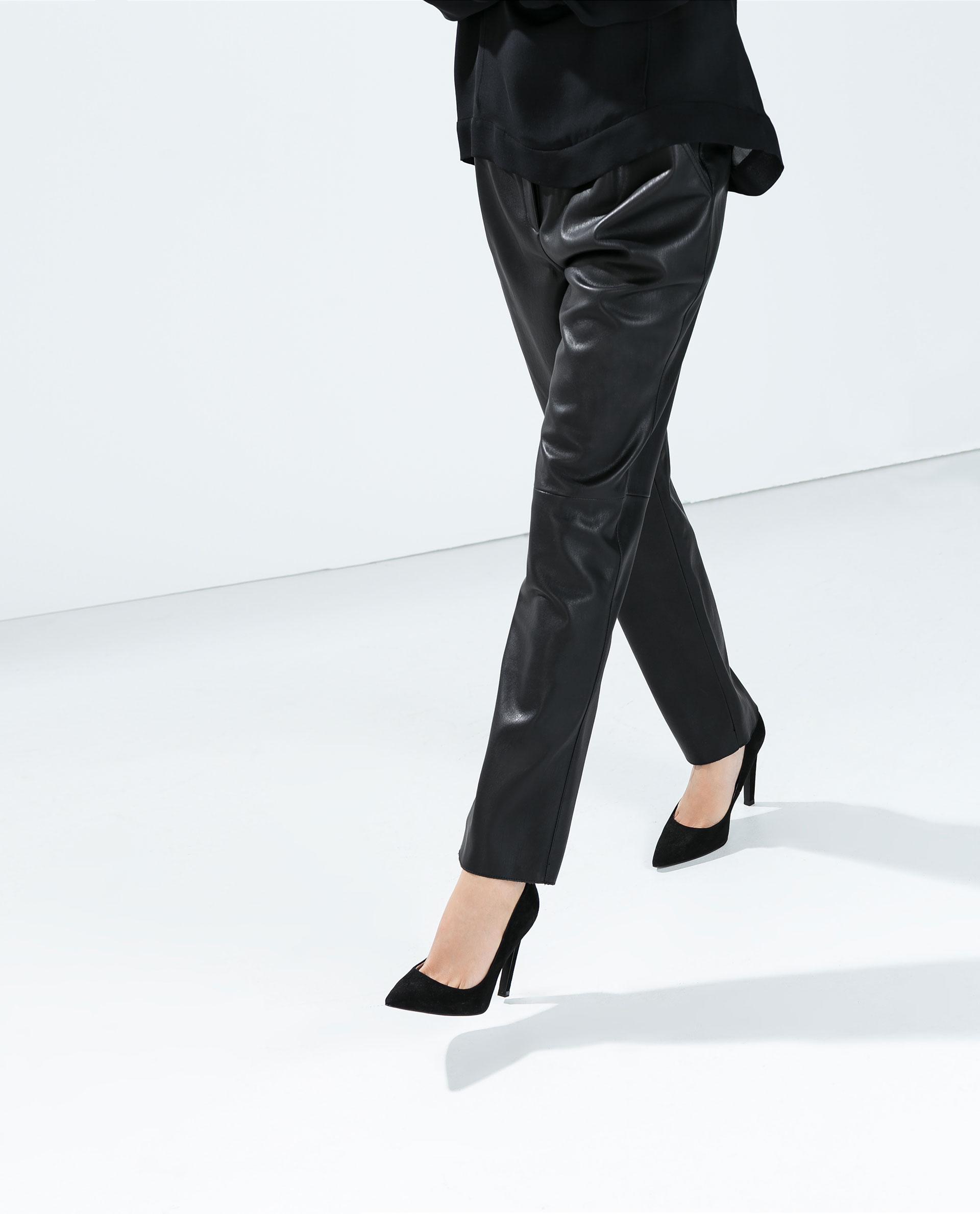 Elegant Women39s Black Leather Pants Women39s Faux Leather Pants