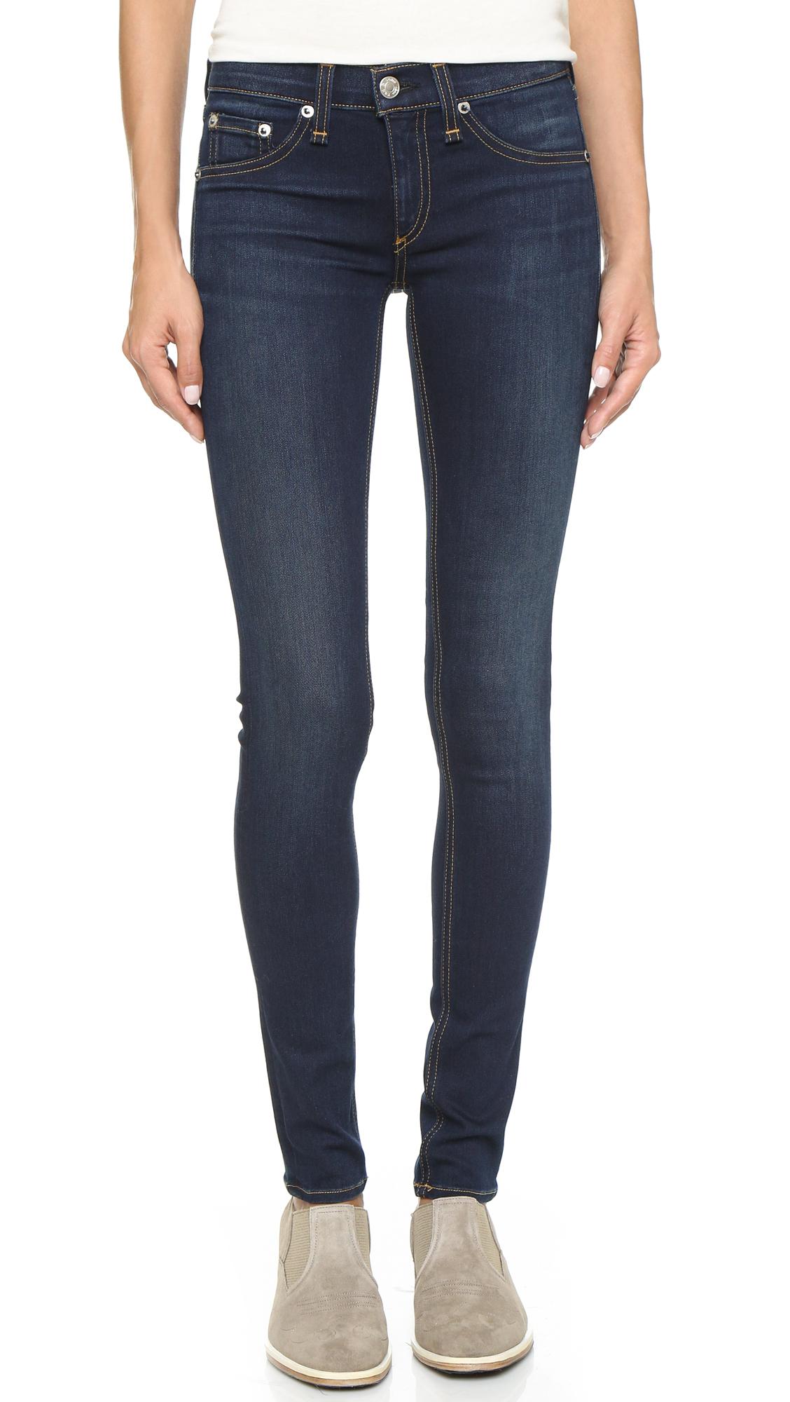 rag bone the skinny jeans in blue lyst
