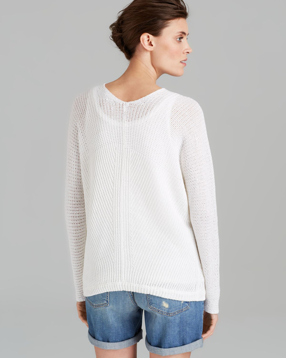 Lyst Vince Sweater Fashion Linen In White