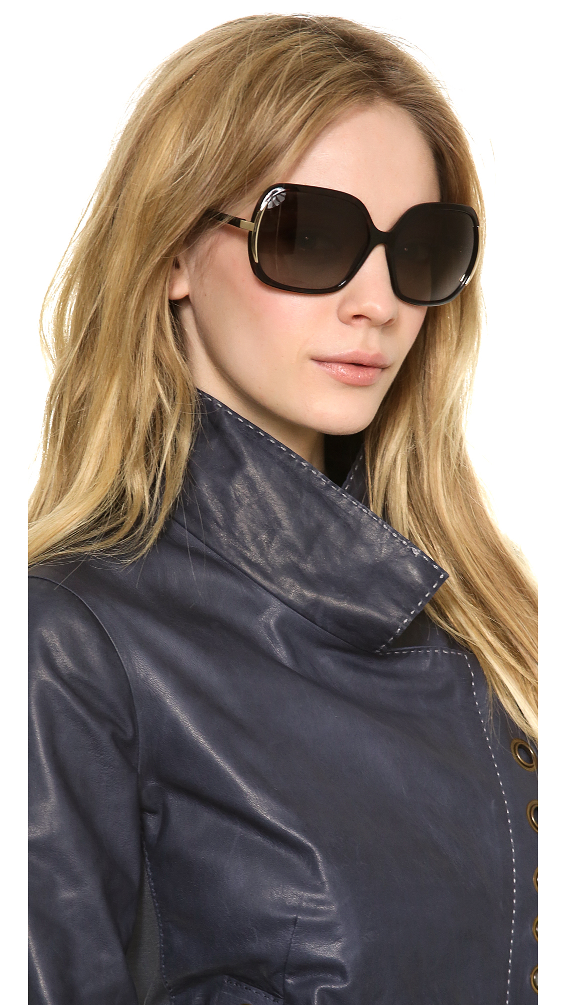 Aviator Oversized Sunglasses  marc by marc jacobs polarized oversized sunglasses black in