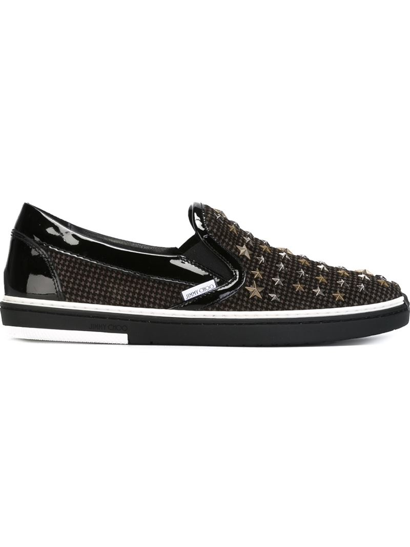 jimmy choo 39 grove 39 sneakers in black for men lyst. Black Bedroom Furniture Sets. Home Design Ideas