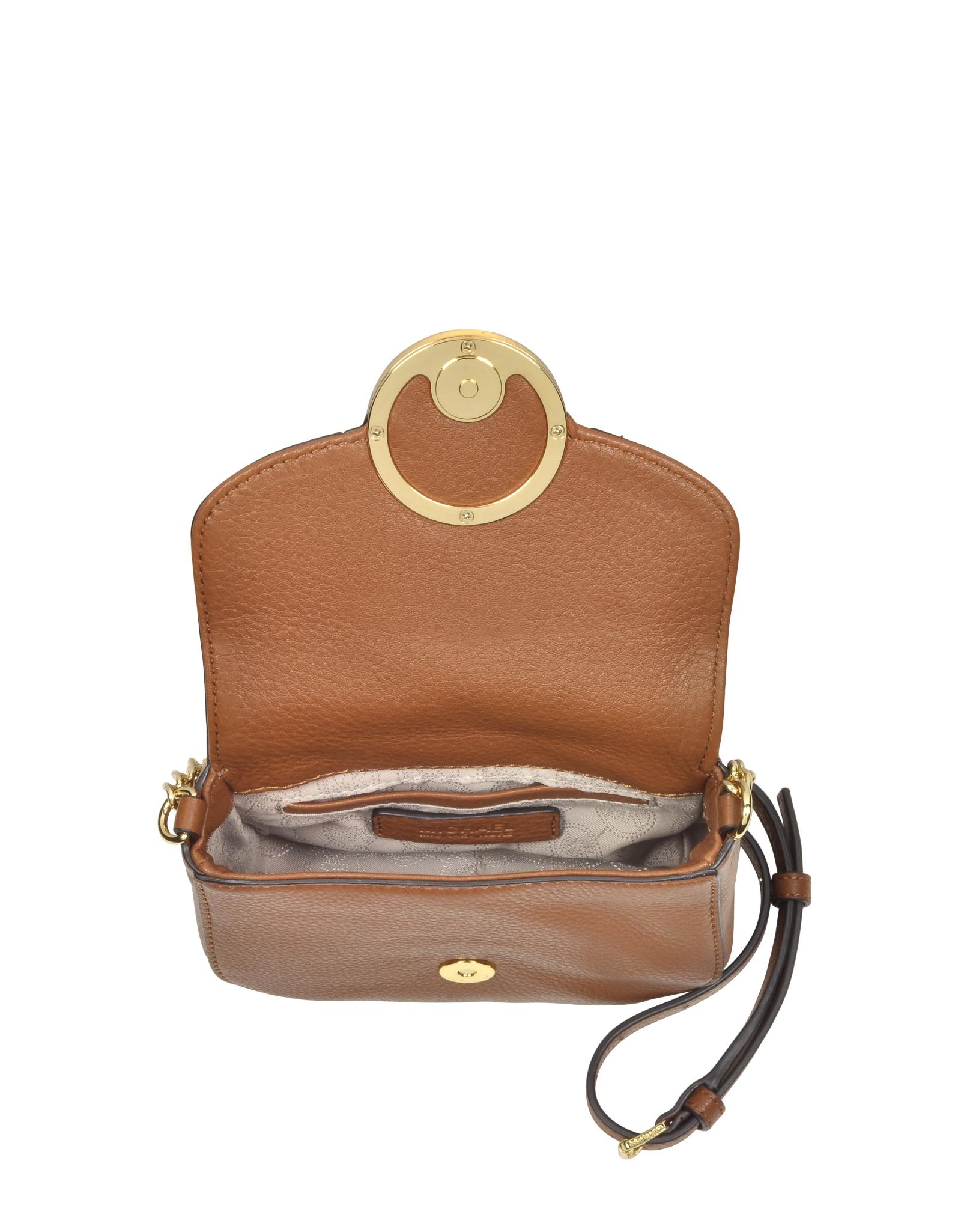 5feb1480983e Michael Kors Fulton Luggage Leather Small Crossbody Bag in Metallic - Lyst