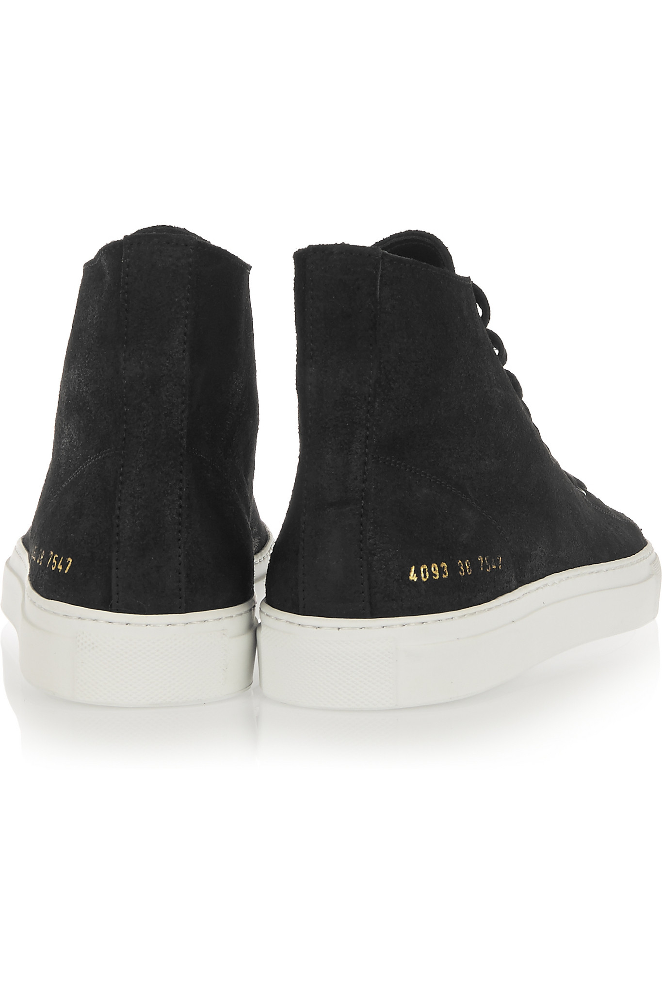 41b6a4fc71fe Common Projects Tournament Waxed-suede High-top Sneakers in Black - Lyst