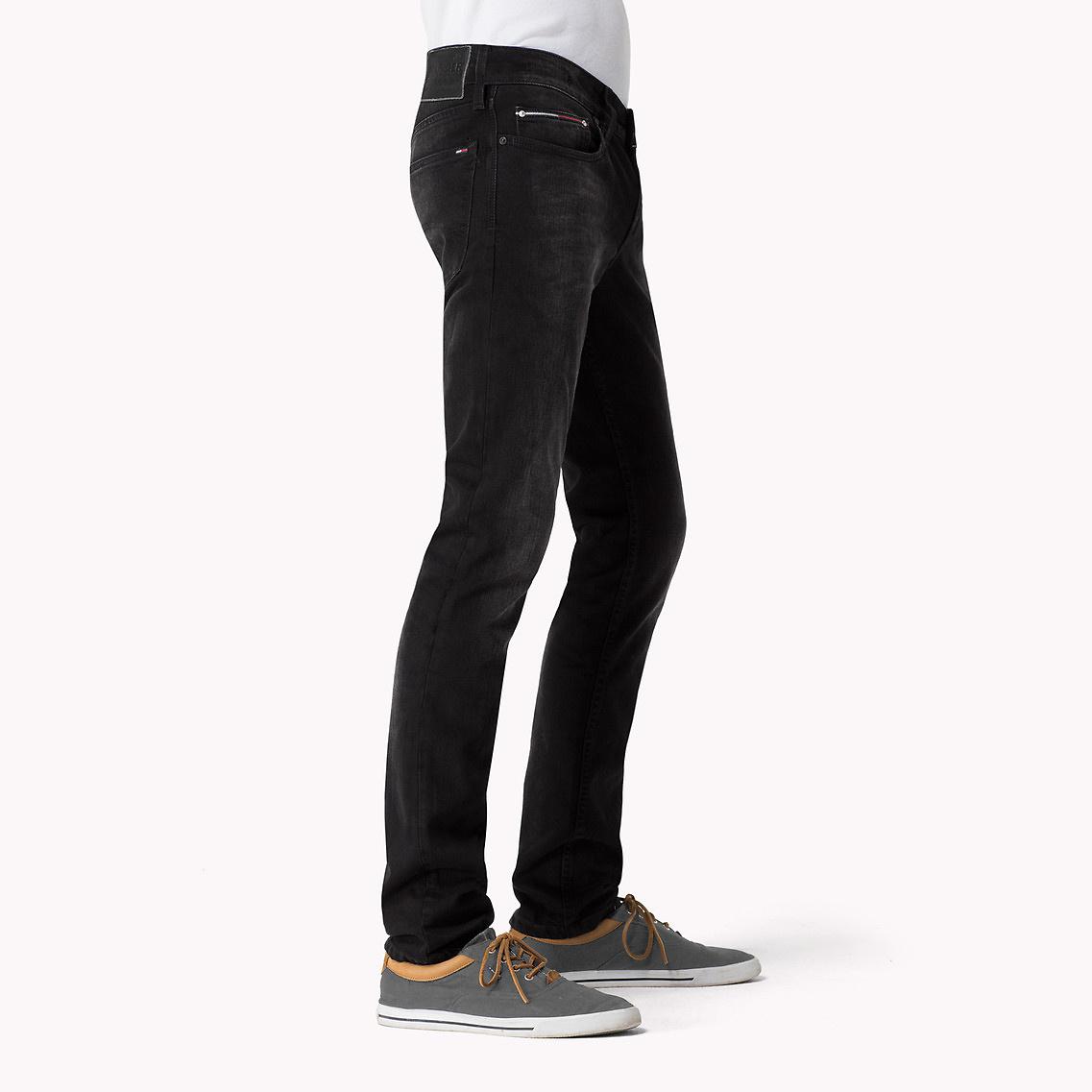 52e6e5269605f2 Tommy Hilfiger Sidney Skinny Fit Jeans in Black for Men - Lyst