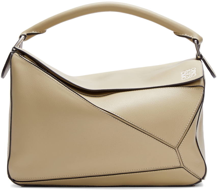 Loewe Khaki & Large Puzzle Pouch Cheap Sale Outlet Store Sale Very Cheap WZ4uLyl