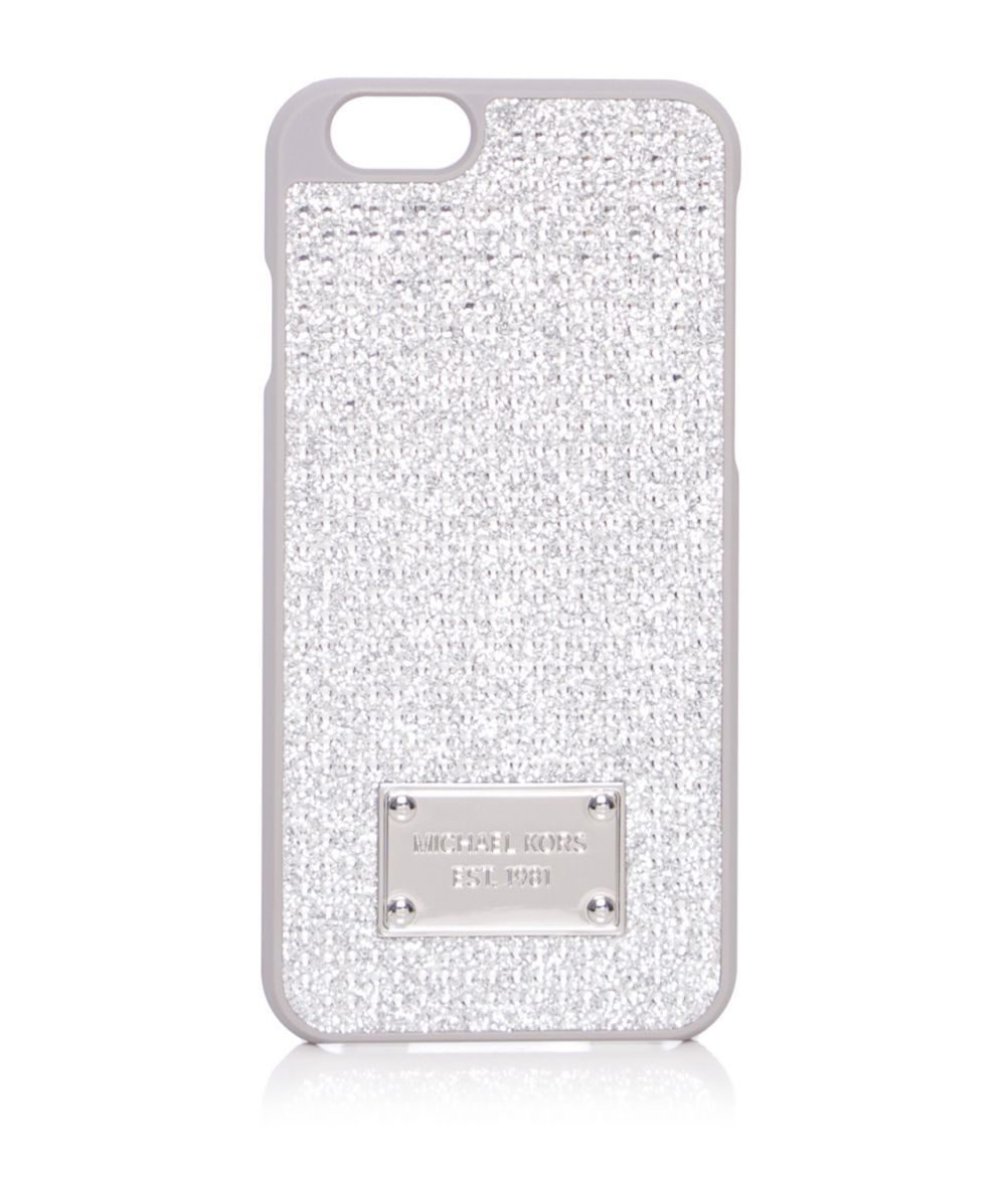 40ae9faa1b65 Lyst - MICHAEL Michael Kors Pave Iphone 6 Case