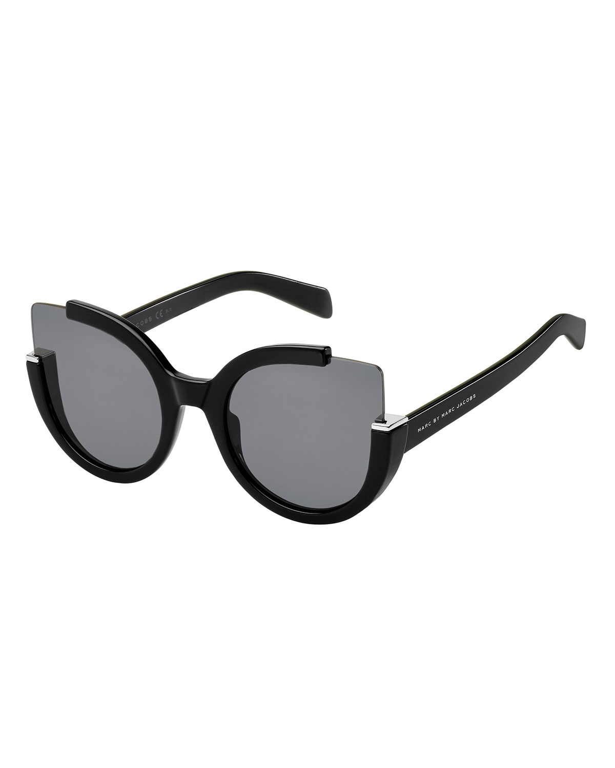 5c7021615ec Lyst - Marc By Marc Jacobs Semi-rimless Cat-eye Sunglasses in Black