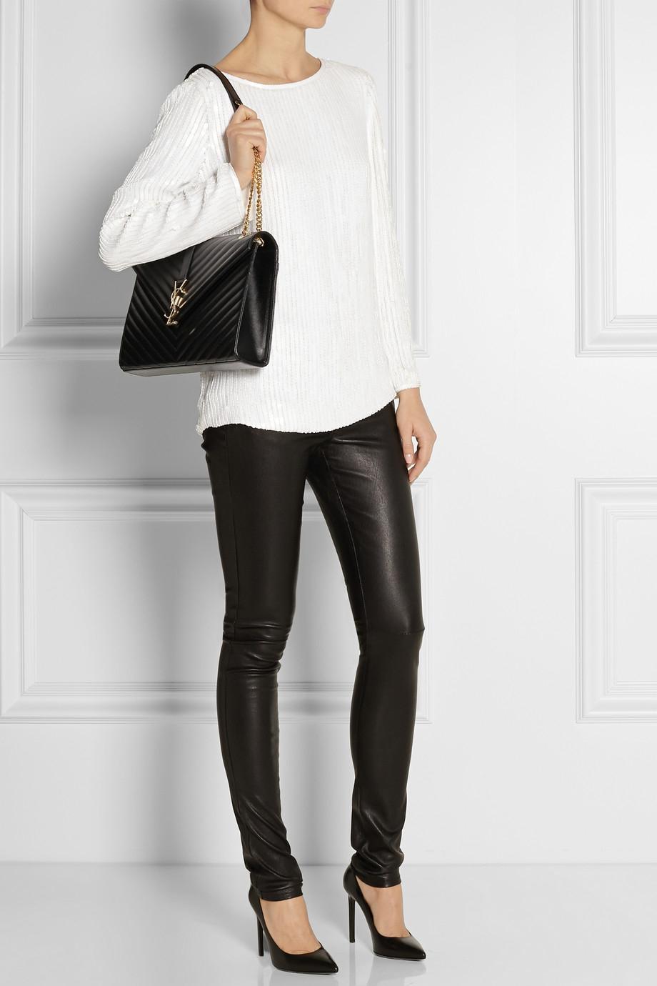 Saint Laurent Women S Monogram Medium Shoulder Bag In