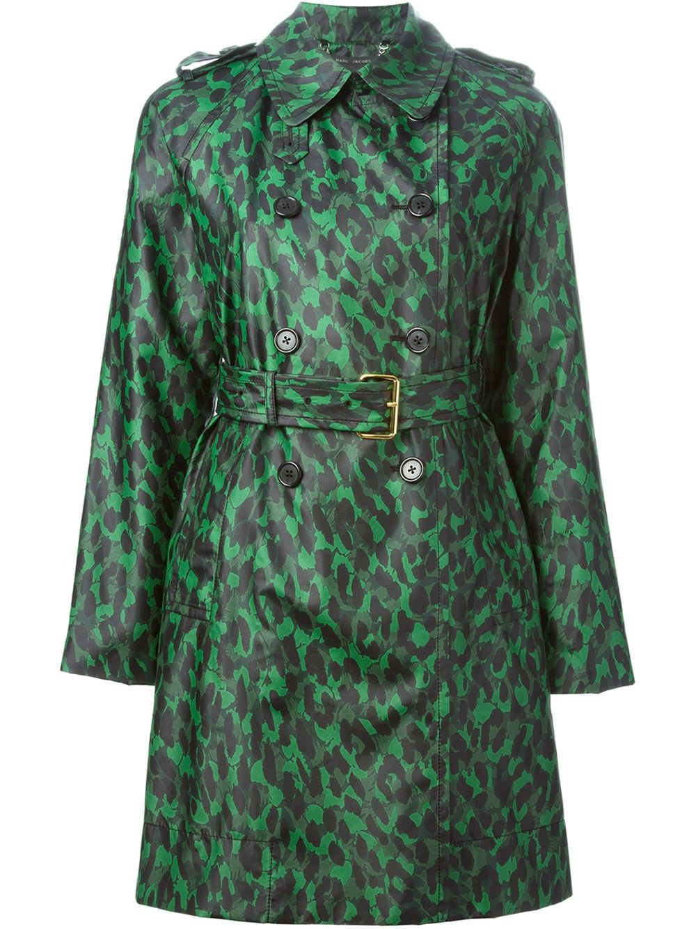 marc jacobs leopard print rain coat in green lyst. Black Bedroom Furniture Sets. Home Design Ideas
