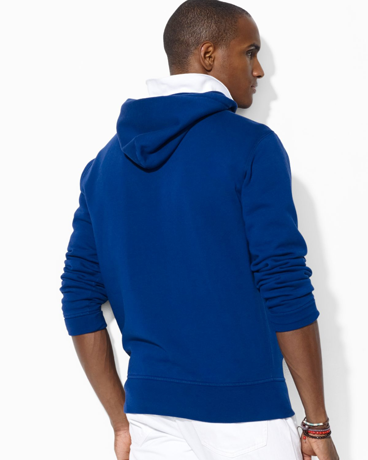 Ralph lauren Polo Big Pony Beach Fleece Pullover Hoodie in Blue for Men (Fall Royal