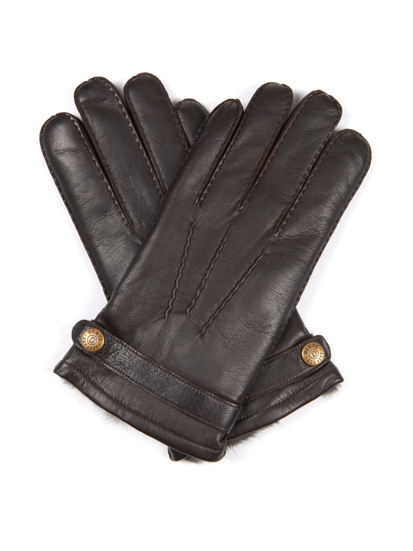 Mens leather gloves dents -